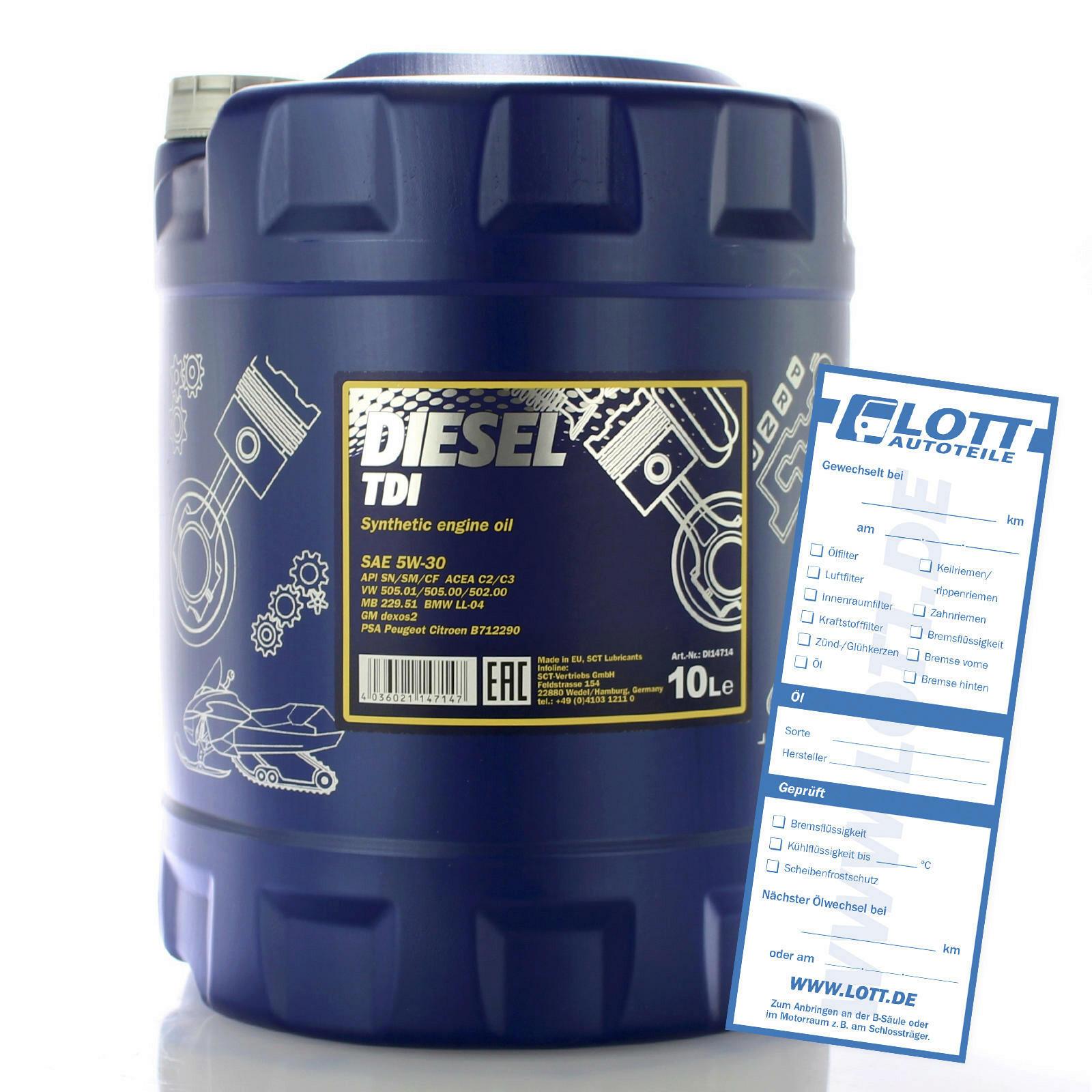Mannol Diesel TDI Motoröl 10L