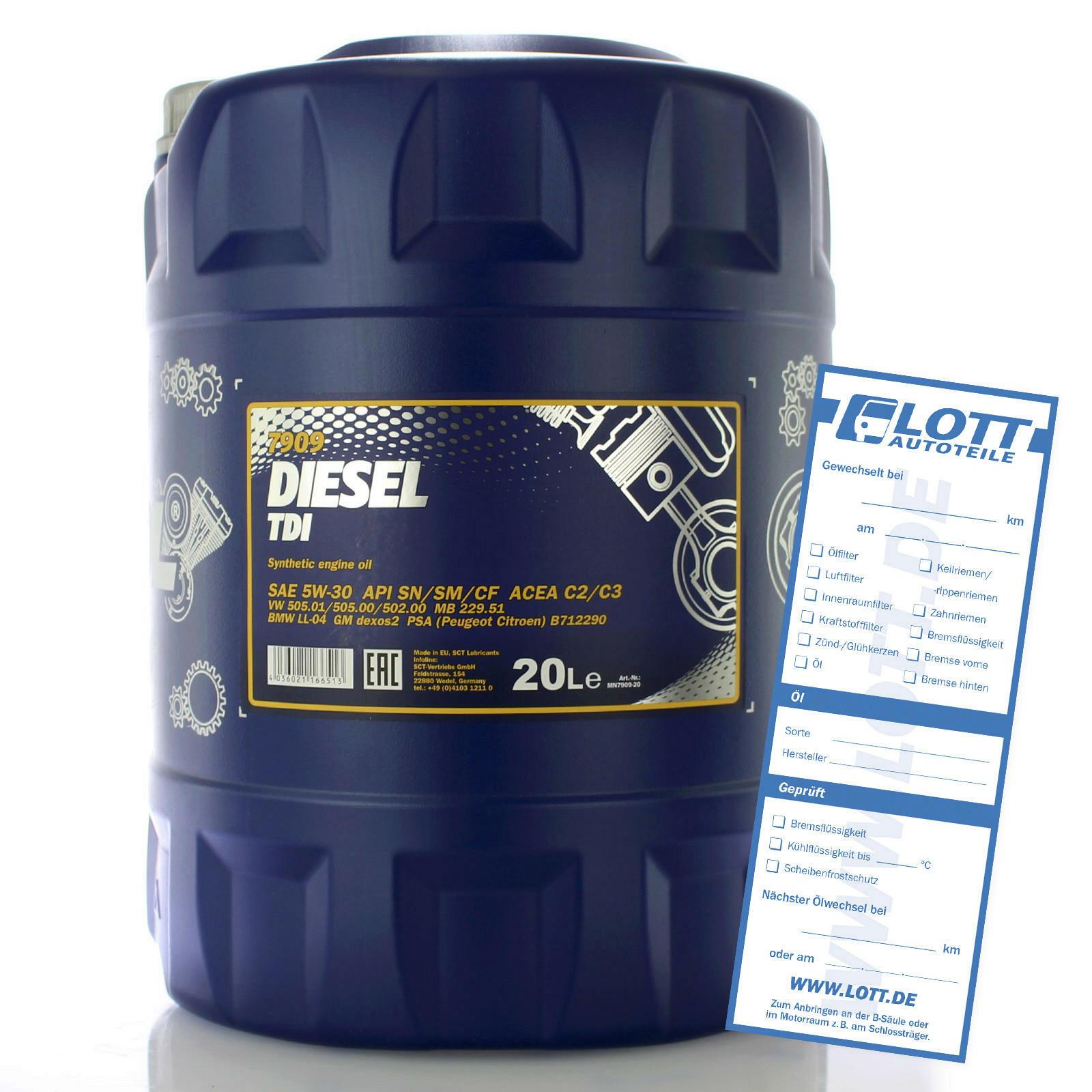 Motoröl Diesel TDI 5W-30 20L