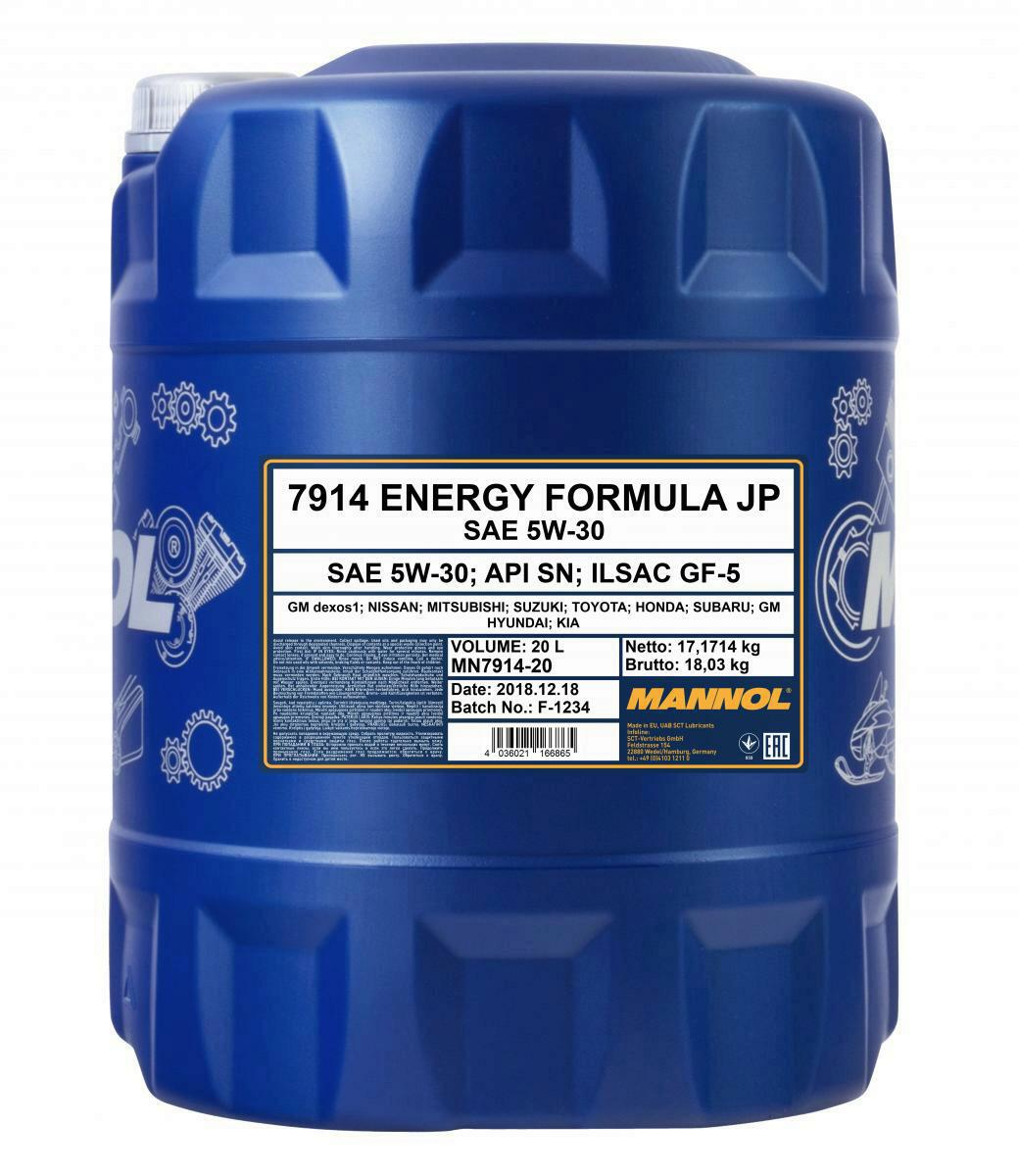 Mannol Energy Formular JP 20 Liter