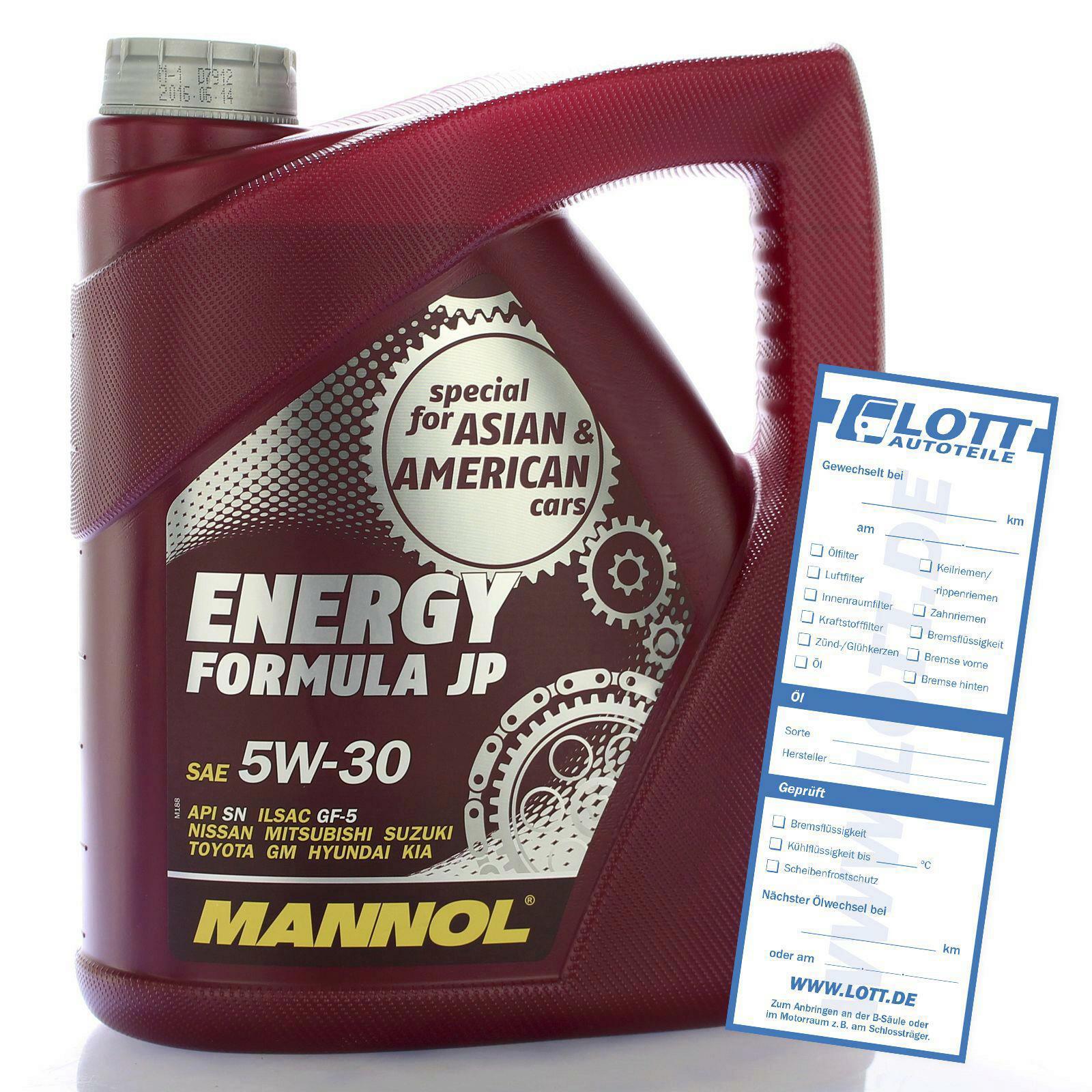 Mannol Energy Formular JP 4 Liter