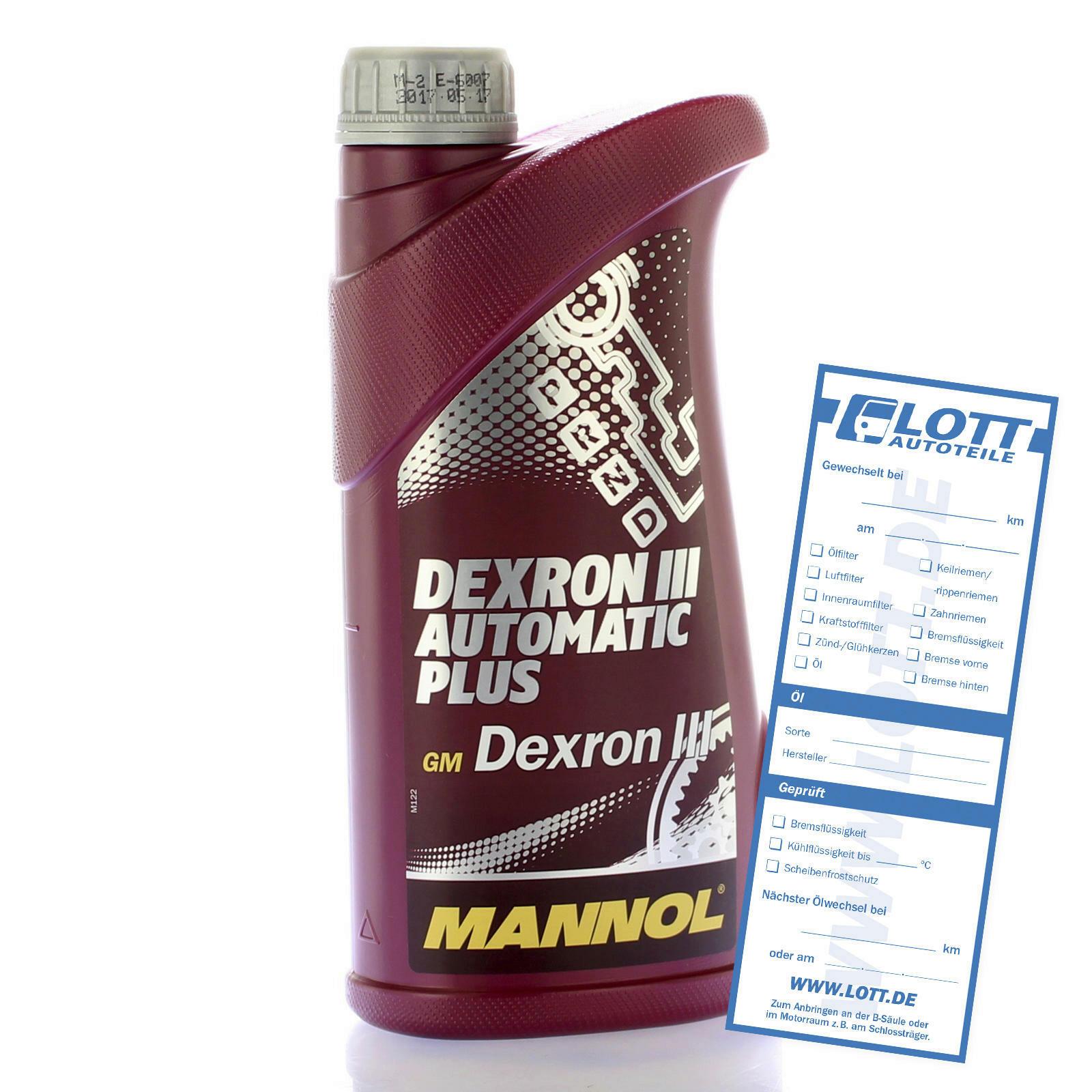 Mannol Automatikgetriebeöl Dexron 3 1L