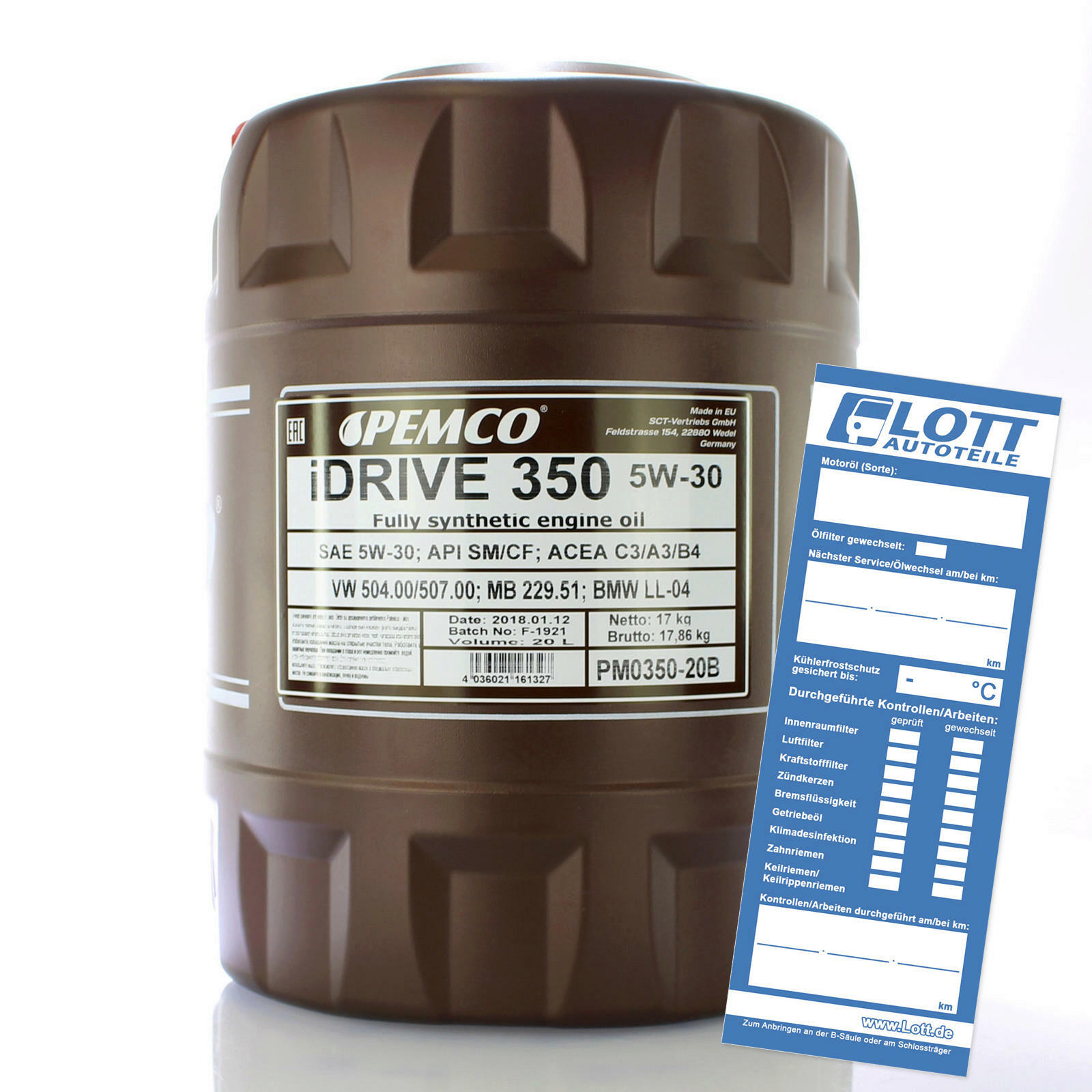 Motoröl PM iDRIVE 350 5W-30 20L