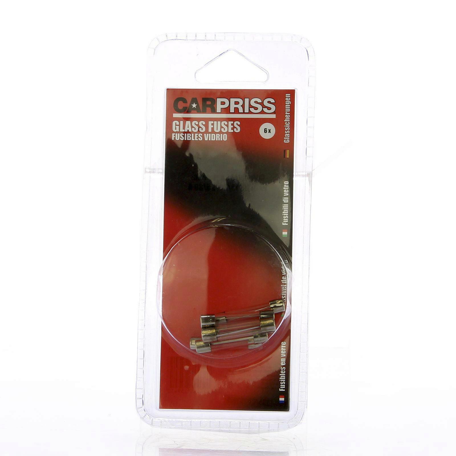KFZ-Sicherung, Glassicherung 6er-Set // 8A / 10A / 15A / 20A / 25A / 30A