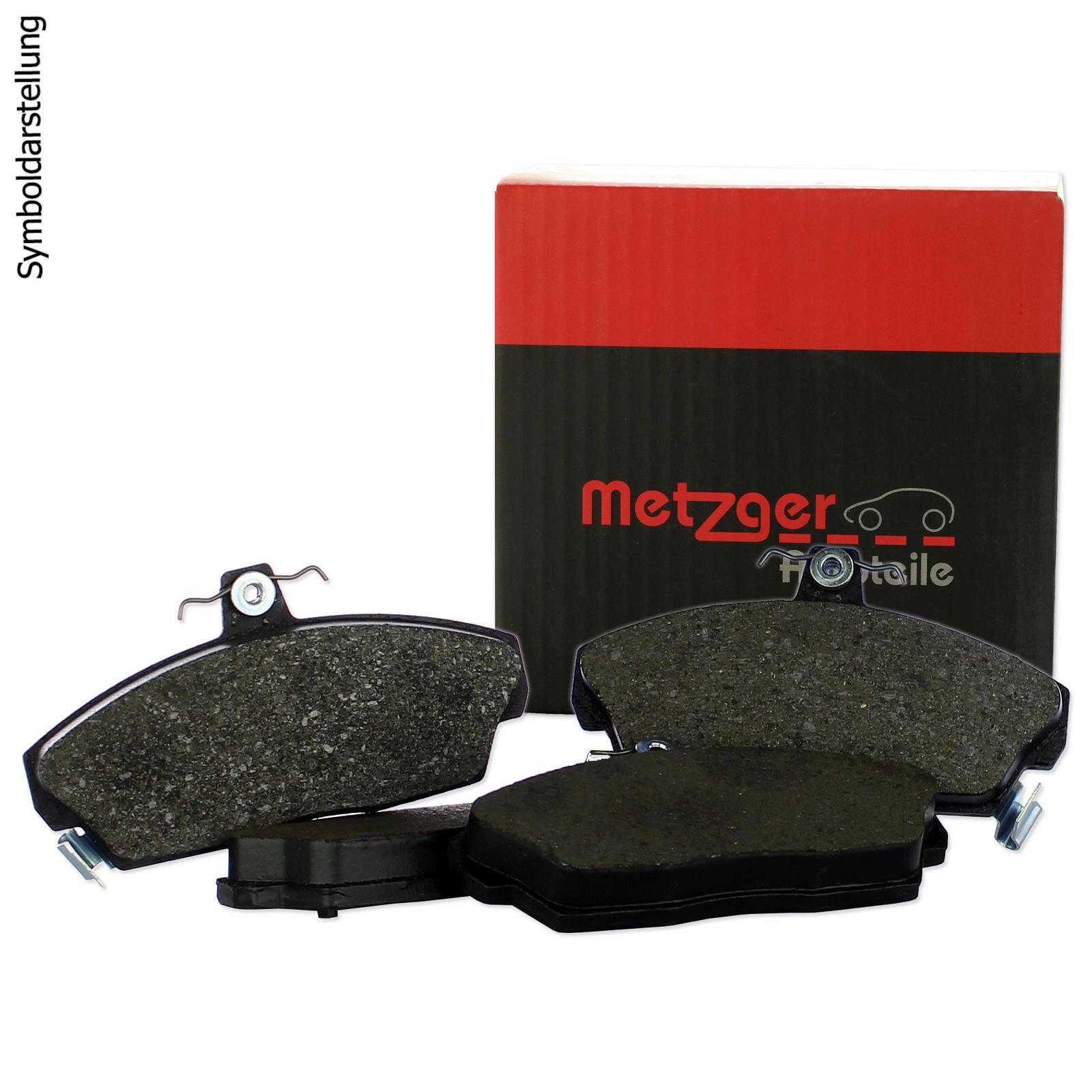 METZGER 4x Bremsbeläge Bremsbelagsatz