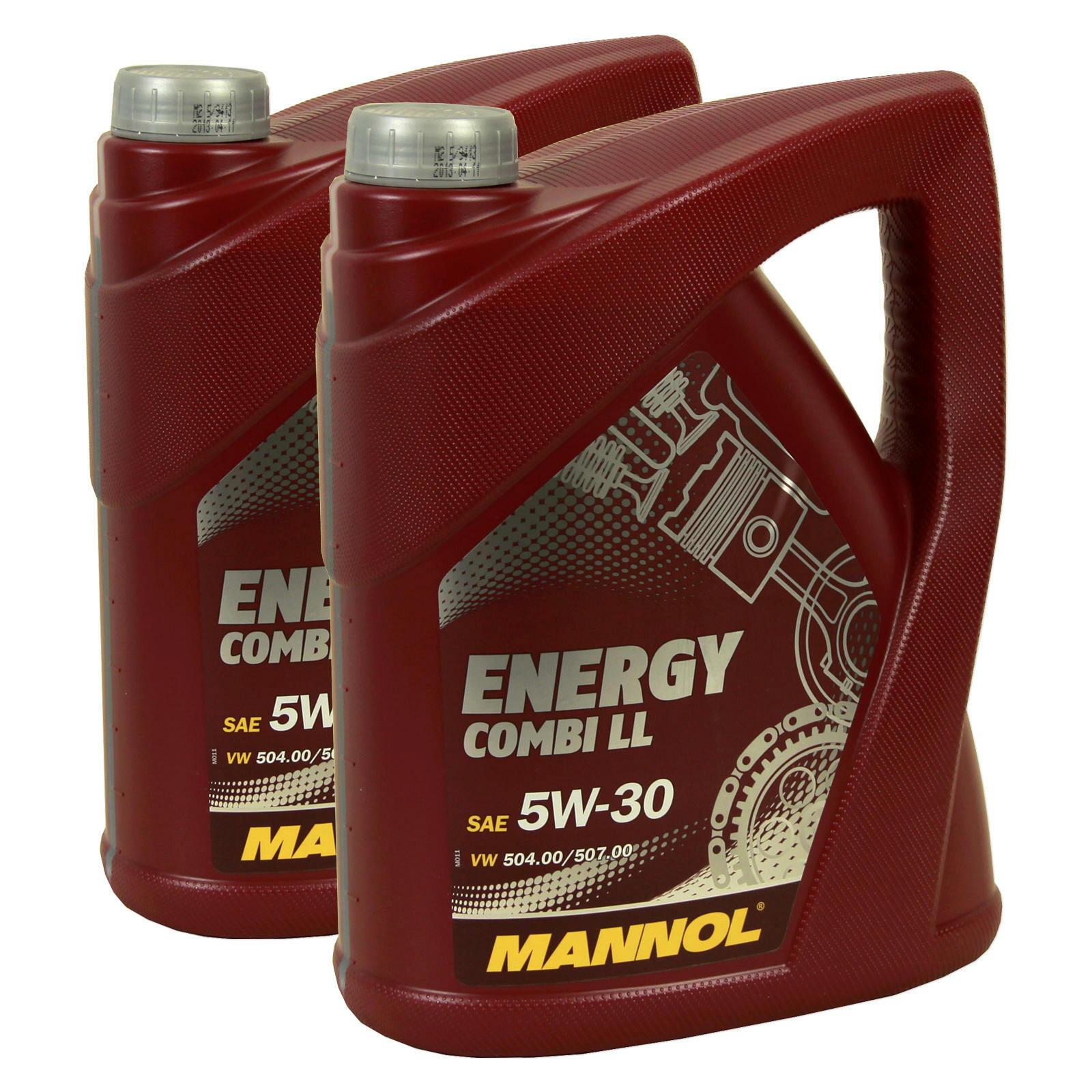 2x 5 Liter MOTORÖL MANNOL ENERGY COMBI LL 5W-30 88888700500 für BMW MB VW