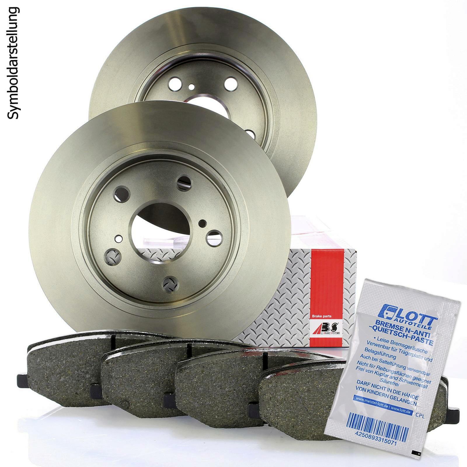 Bosch2 Bremsscheiben Hinten Voll Bremsbeläge Bremsen-Set