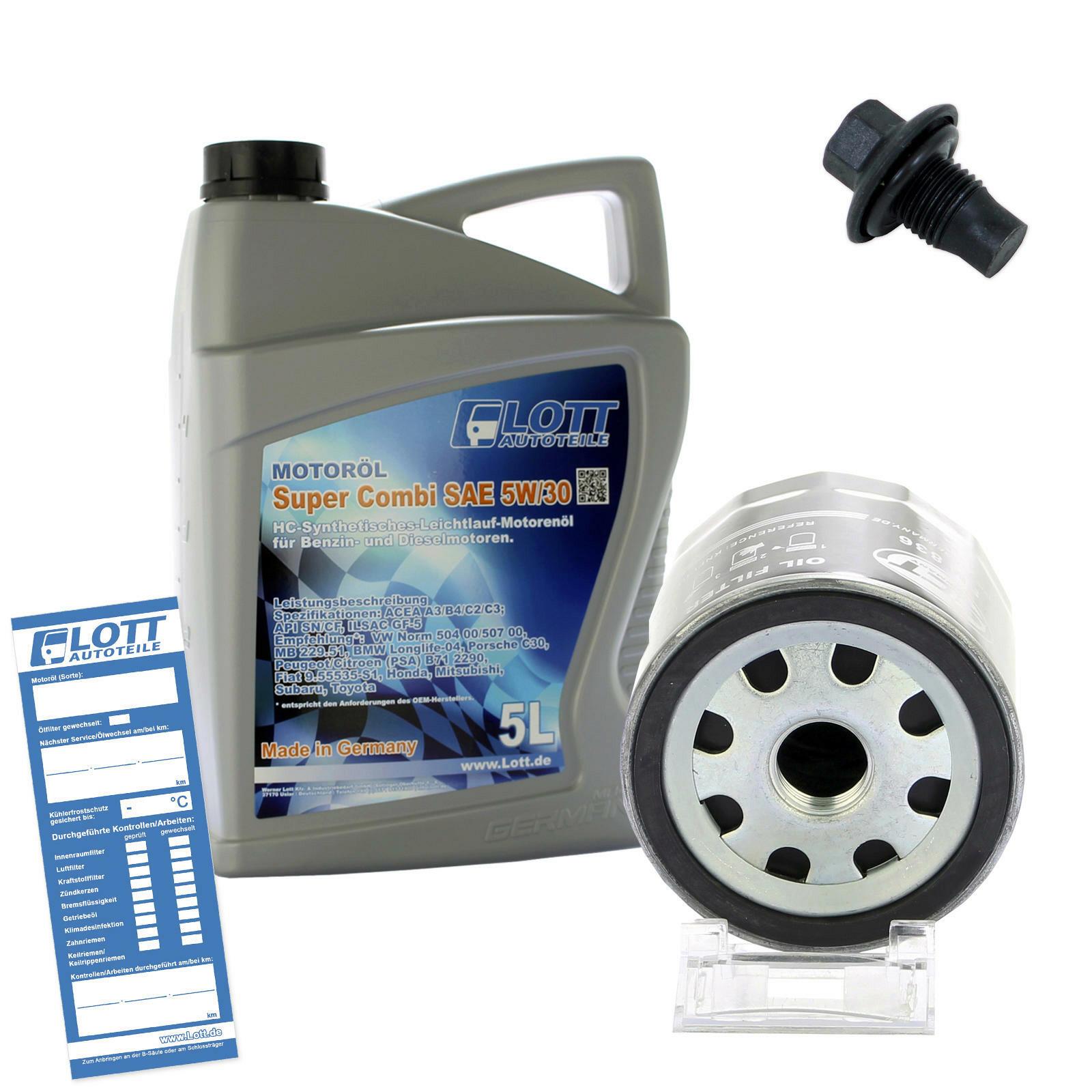 Ölwechsel Set Ölfilter + Lott Motoröl + Ablassschraube