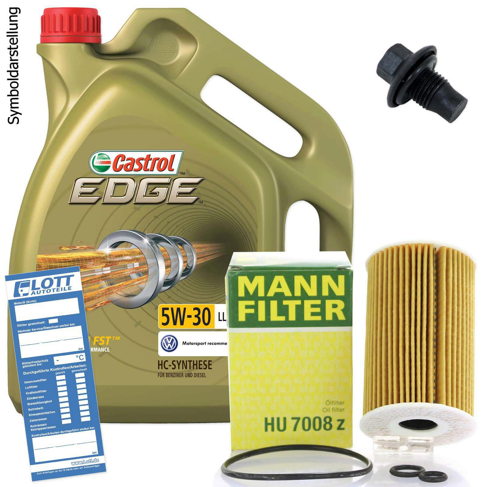 5l castrol edge ll 5w 30 l motor l mann lfilter. Black Bedroom Furniture Sets. Home Design Ideas