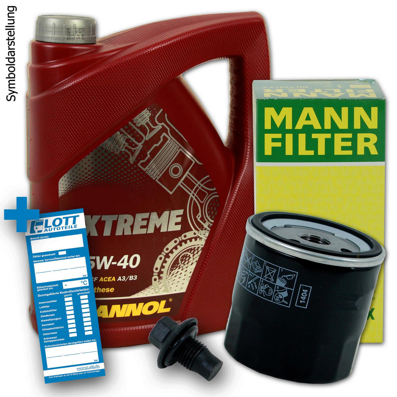 Ölwechsel Set 5 Liter 5W40 Öl + Ölfilter