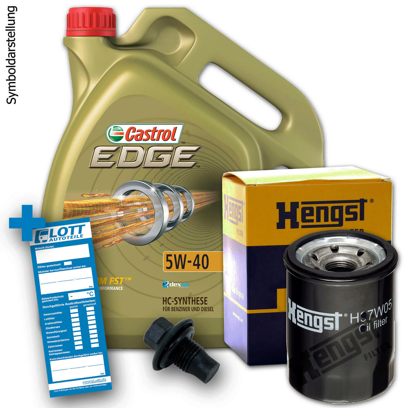 Ölwechsel Set Castrol Motoröl + Hengst Ölfilter