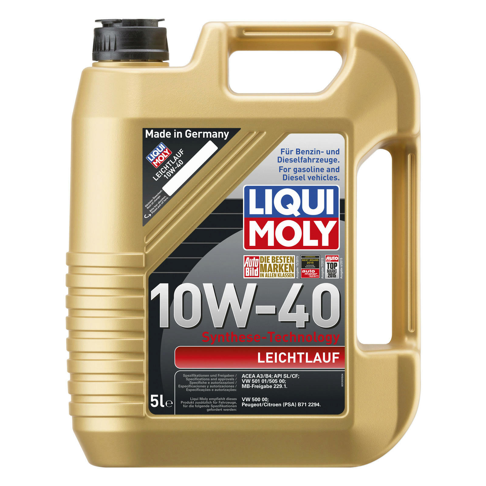 lwechsel set 5l 10w40 l motor l liqui moly mann. Black Bedroom Furniture Sets. Home Design Ideas