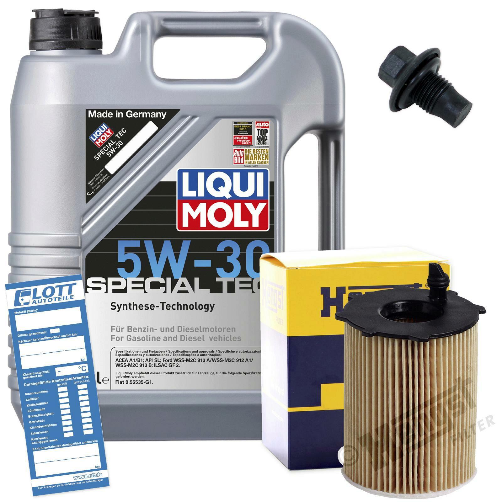 Ölwechsel Set 5L 5W30 Öl Motoröl LIQUI MOLY + HENGST Ölfilter + Ablassschraube