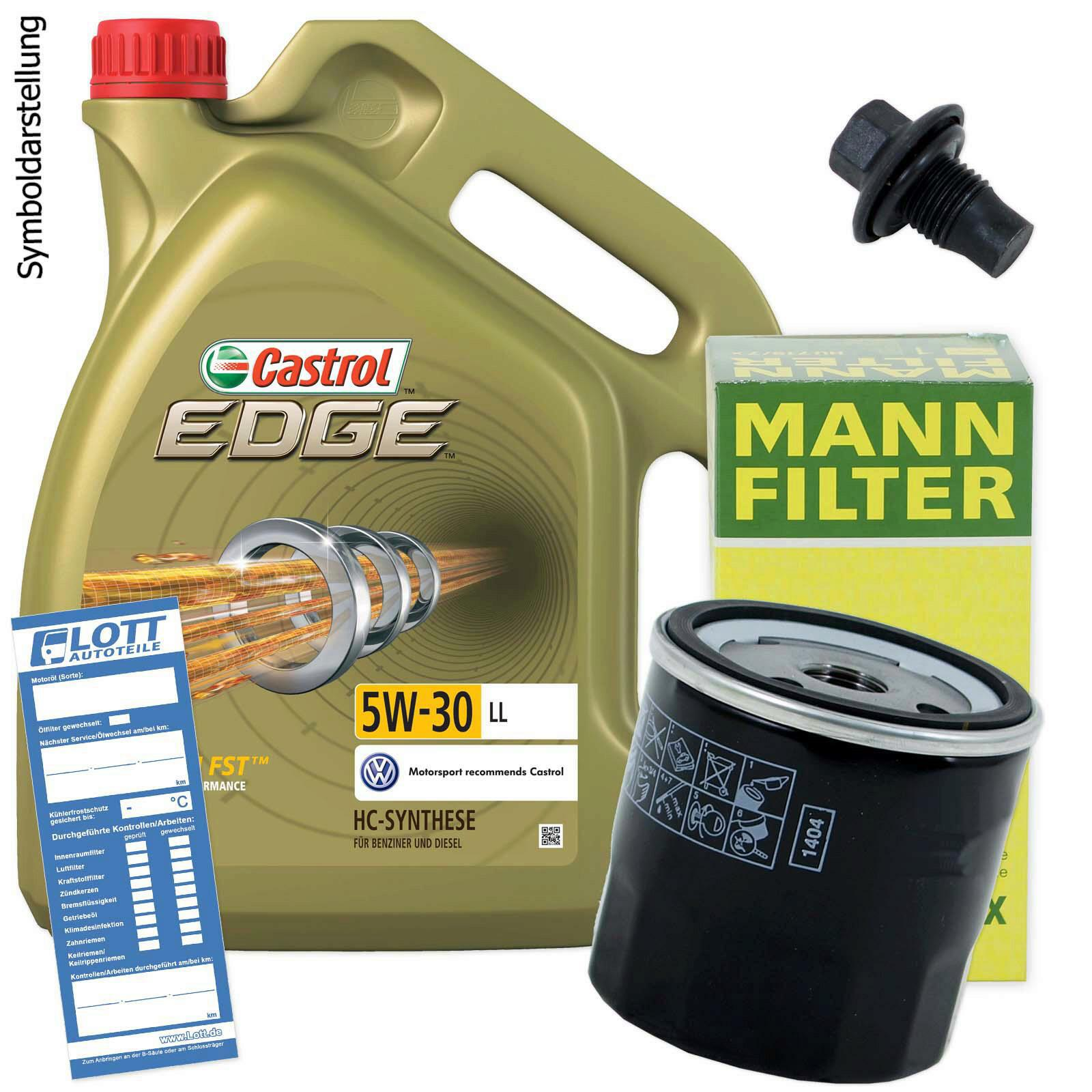 Ölwechsel set 5l 5w30 Öl motoröl castrol + mann Ölfilter +