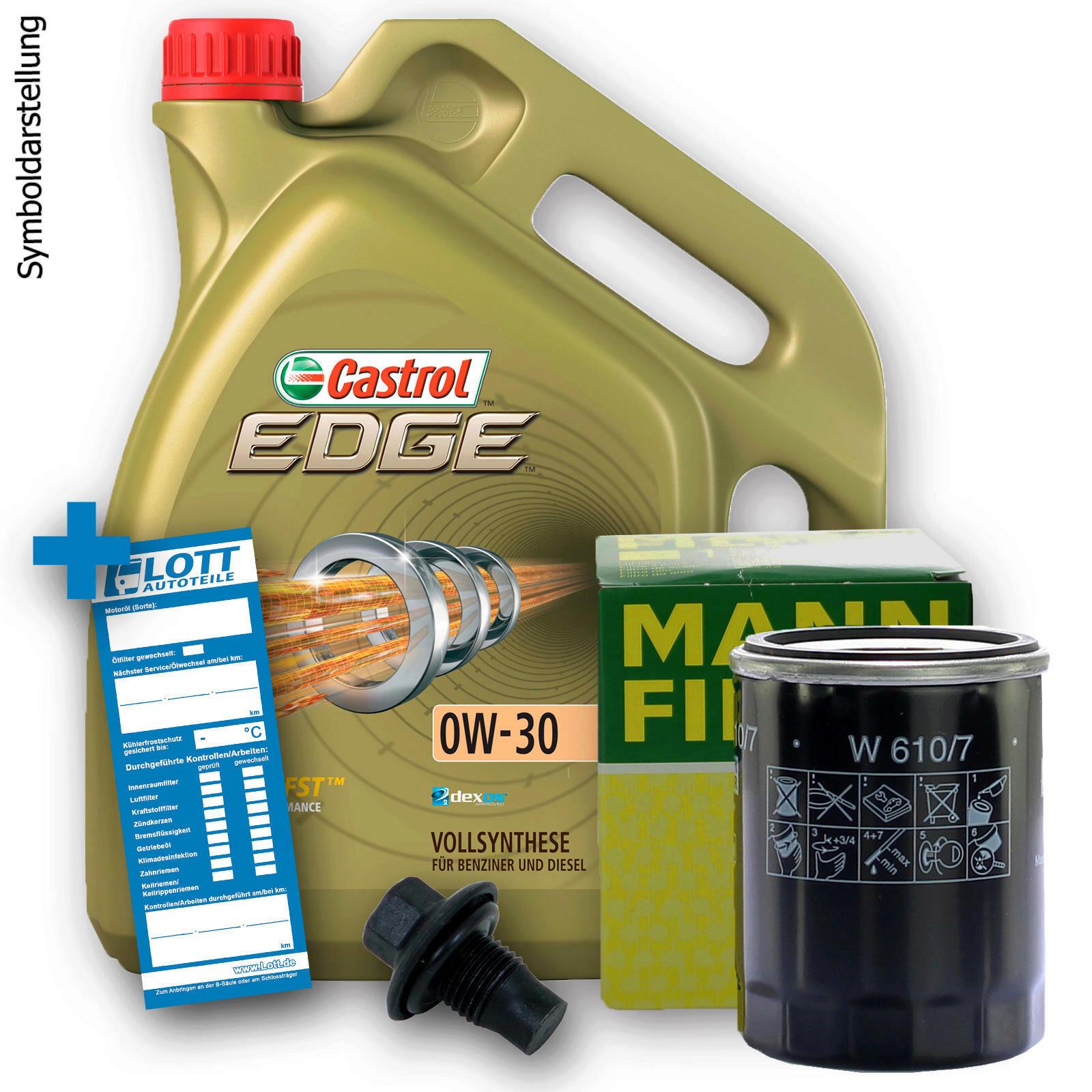 Ölwechsel Set Castrol Motoröl + MANN Ölfilter