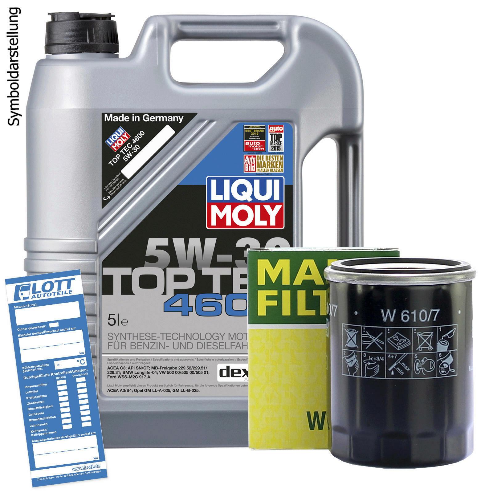 Ölwechsel Set Liqui Moly Motoröl + MANN Ölfilter