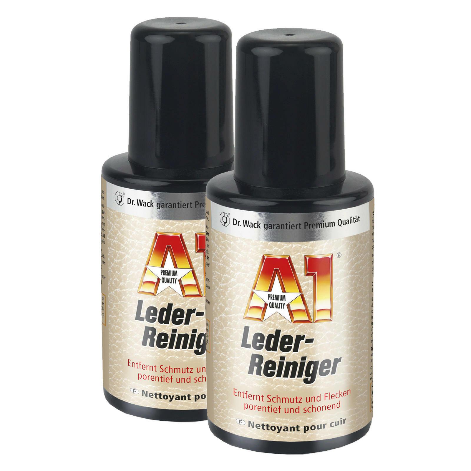 2x Dr. Wack A1 Lederreiniger 250 ML ATL porentiefe Reinigung ideal für helles Leder