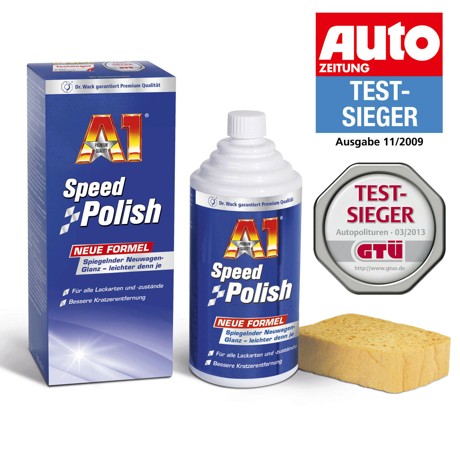 Dr.Wack A1 Speed Polish 500ml + Scheibenreiniger 250ml