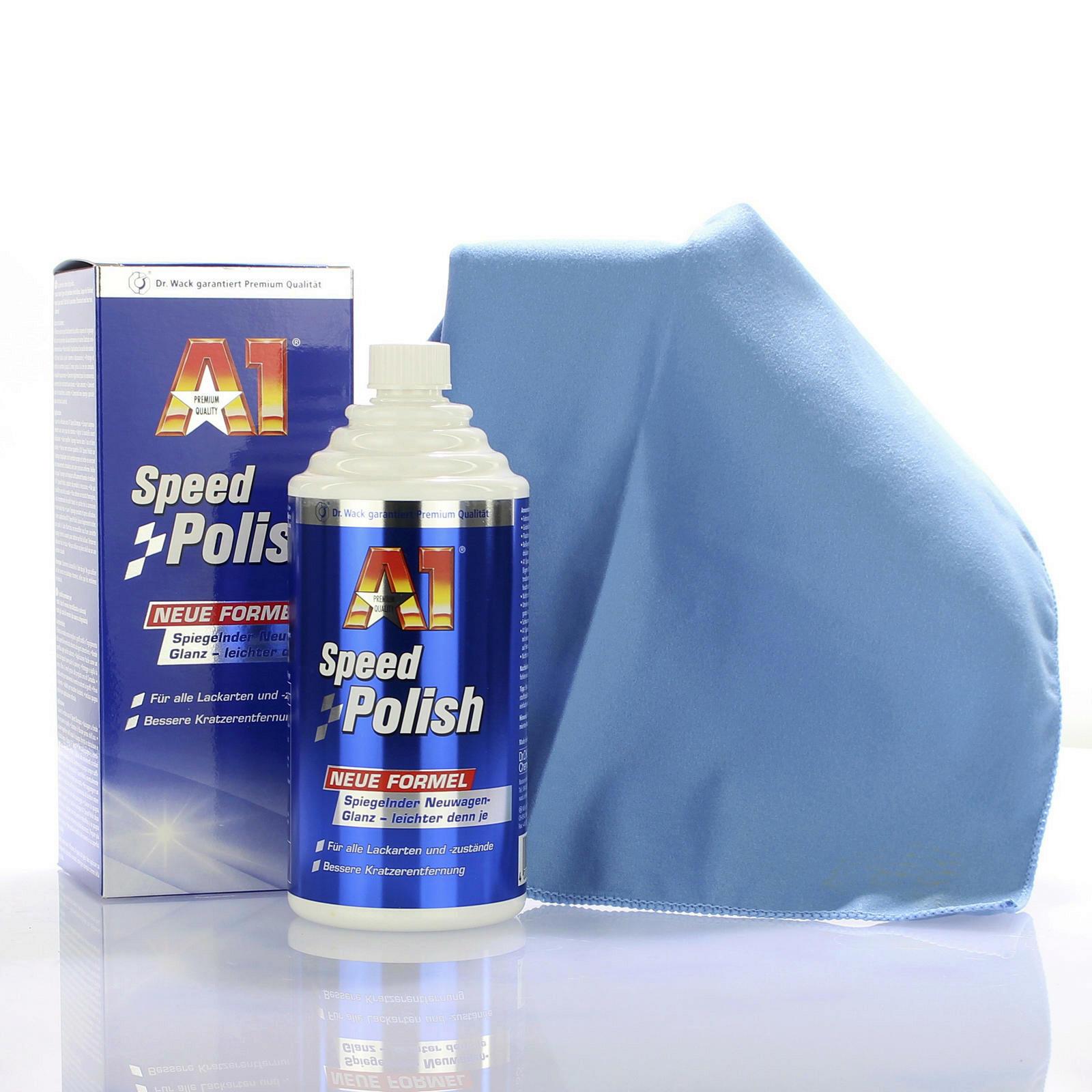 Dr.Wack A1 Speed Polish 500ml + Poliertuch Microfasertuch