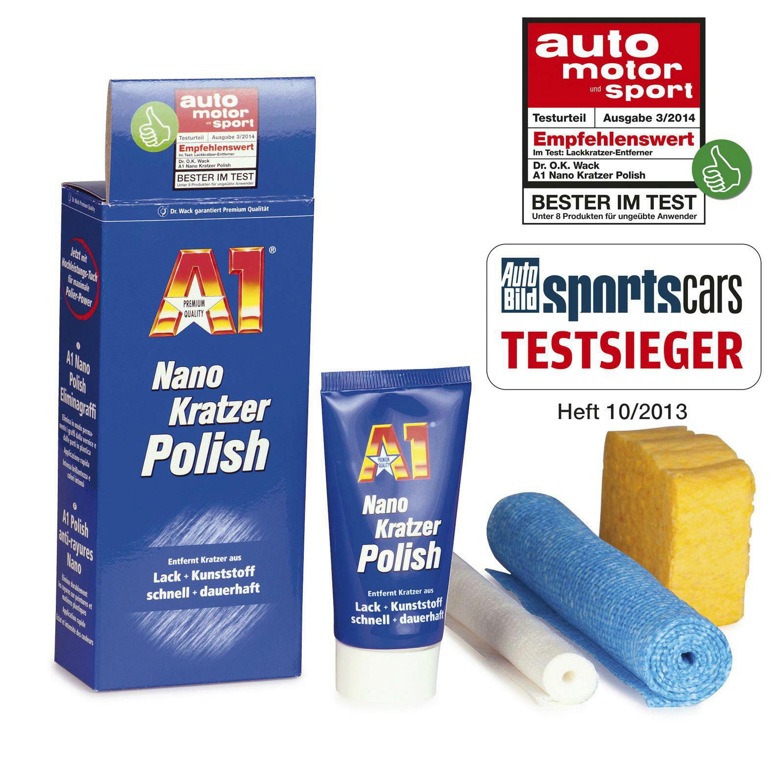 DR. Wack A1 Nano Kratzer Polisch 50ml + A1 Speed Wax 500ml