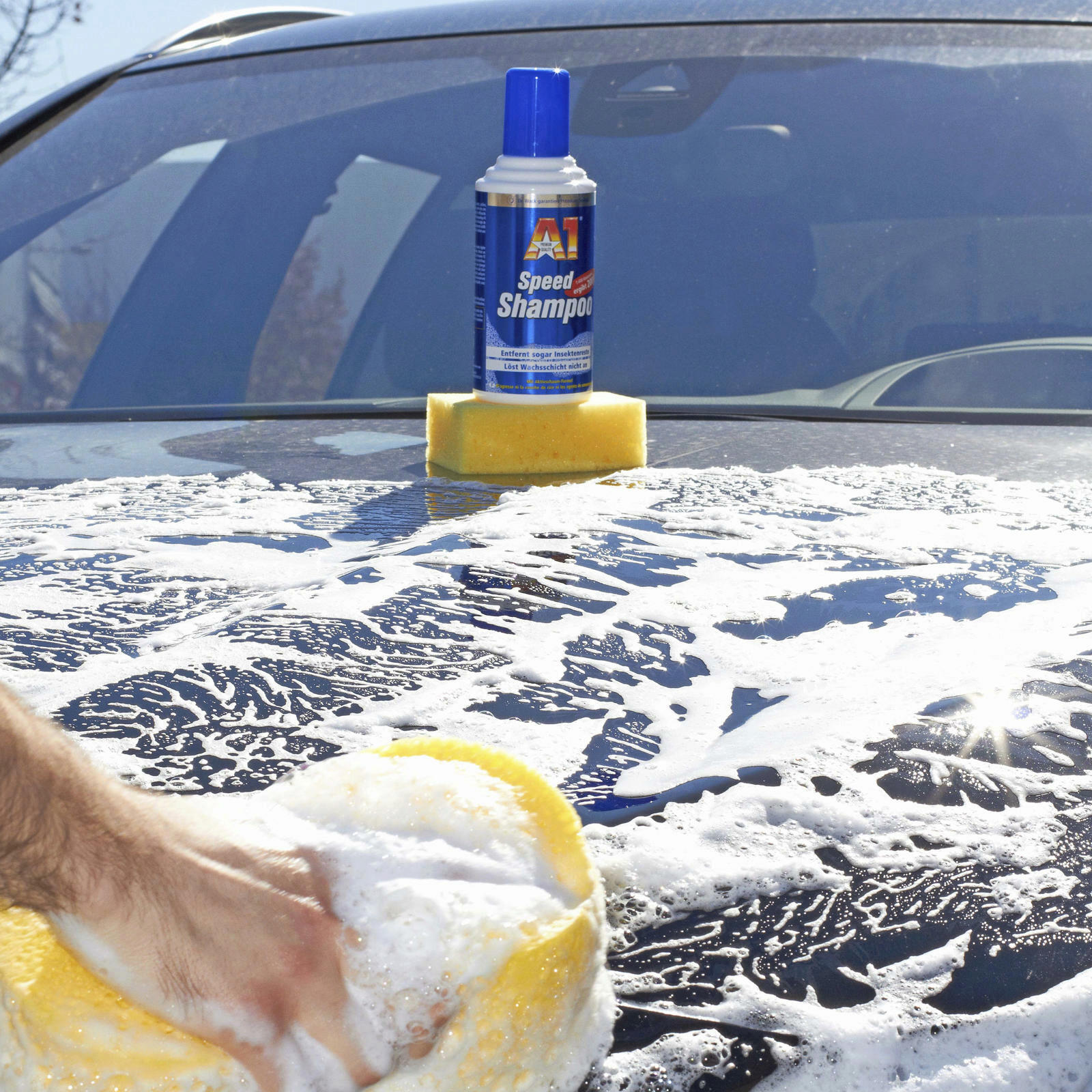 2x Dr. Wack A1 Speed Shampoo 500 ML sehr ergiebig, gruendlich, Aktivschaum-Formel