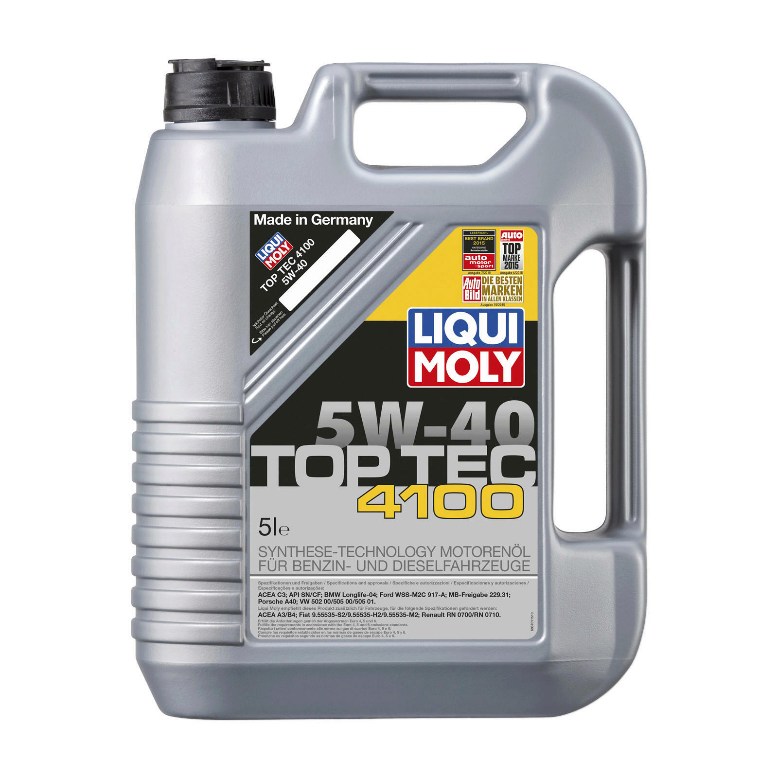 2x 5 liter original liqui moly motor l top tec 4100 5w40. Black Bedroom Furniture Sets. Home Design Ideas