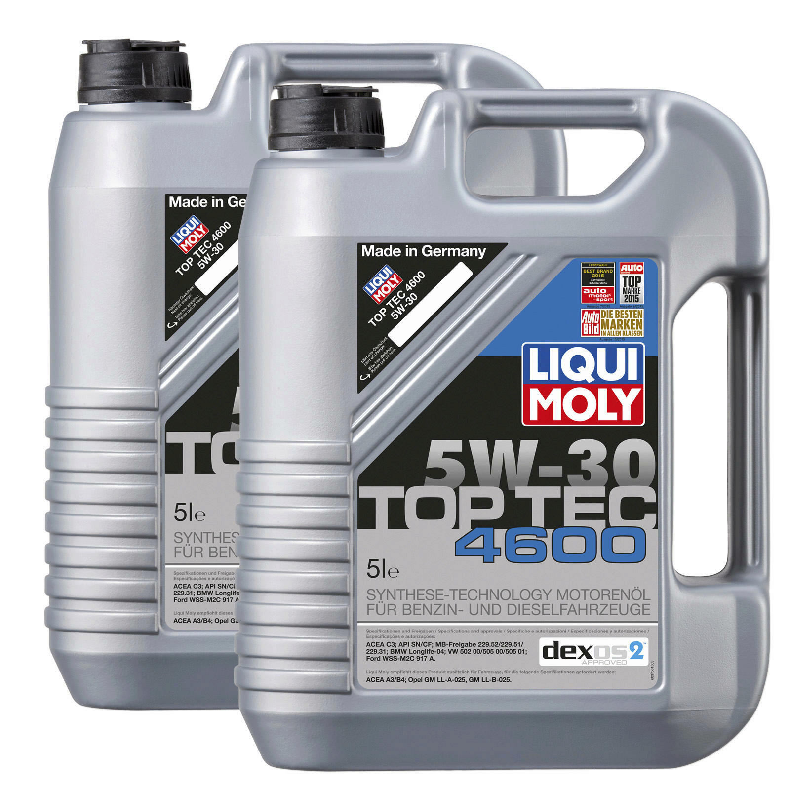 2x 5 liter original liqui moly motor l top tec 4600 5w30. Black Bedroom Furniture Sets. Home Design Ideas