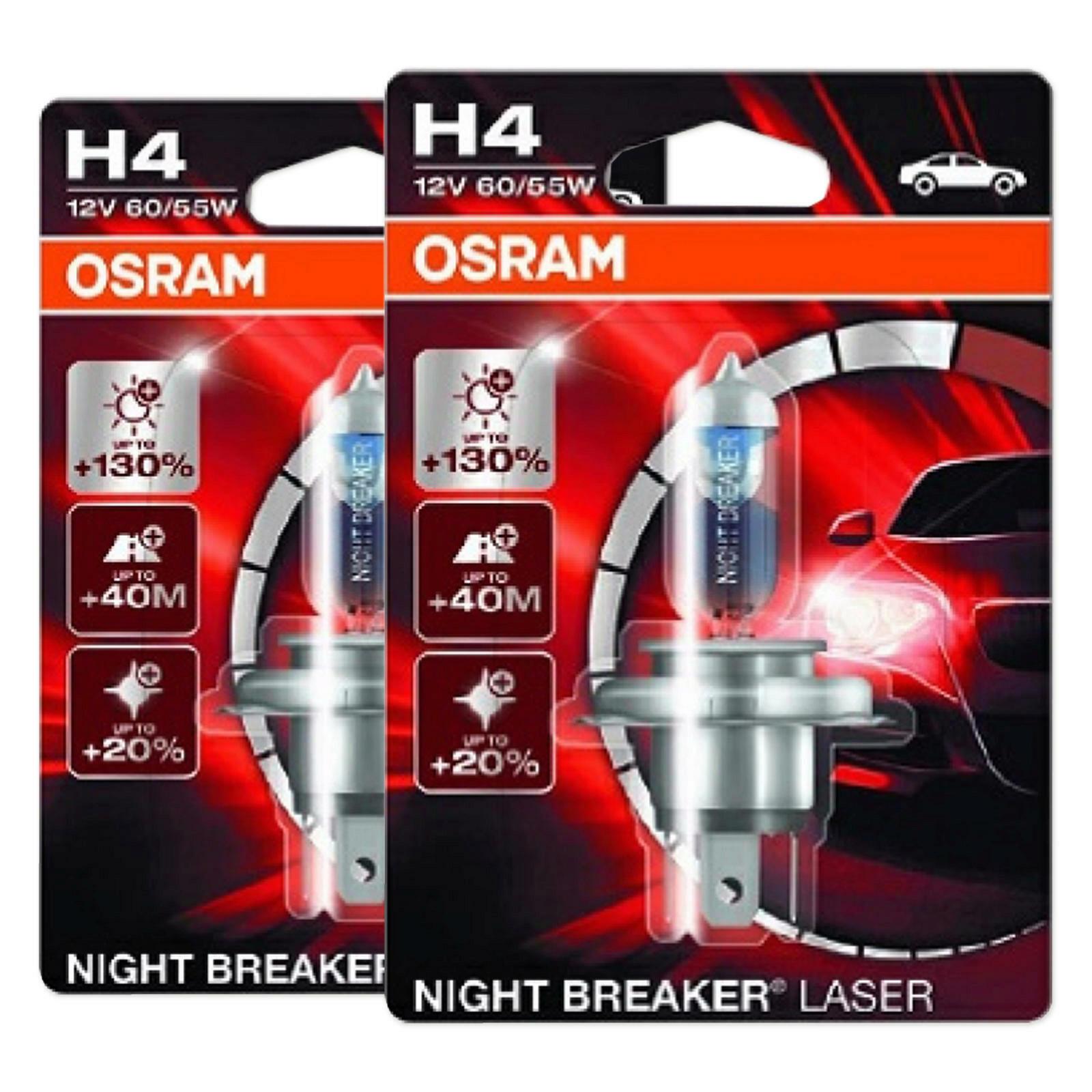 2x OSRAM NIGHT BREAKER LASER H4