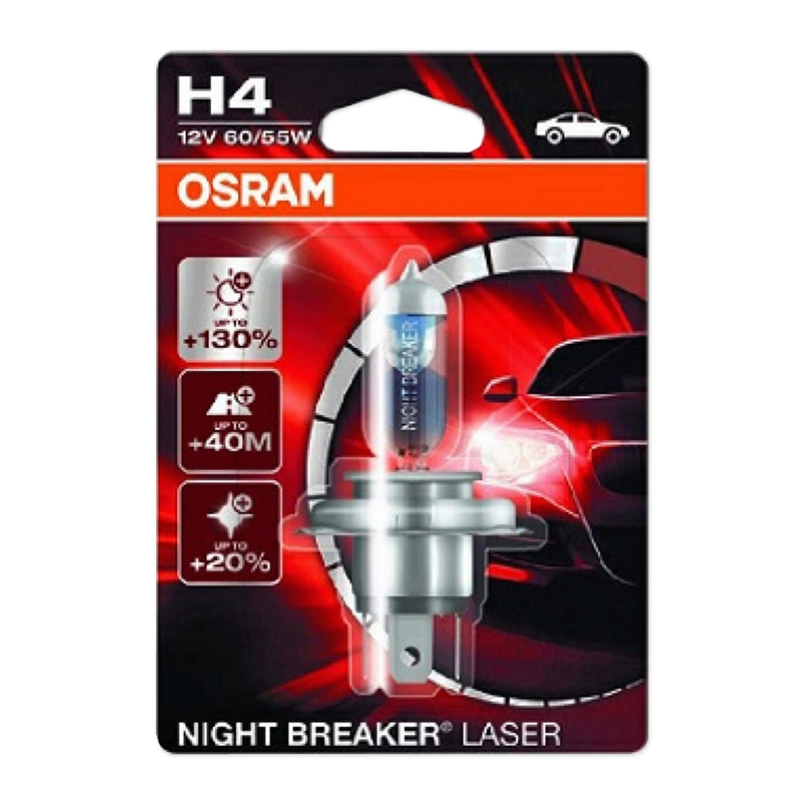 2x osram night breaker laser h4 64193nbl 01b halogen lampe birne 12v 60 55 w ebay. Black Bedroom Furniture Sets. Home Design Ideas