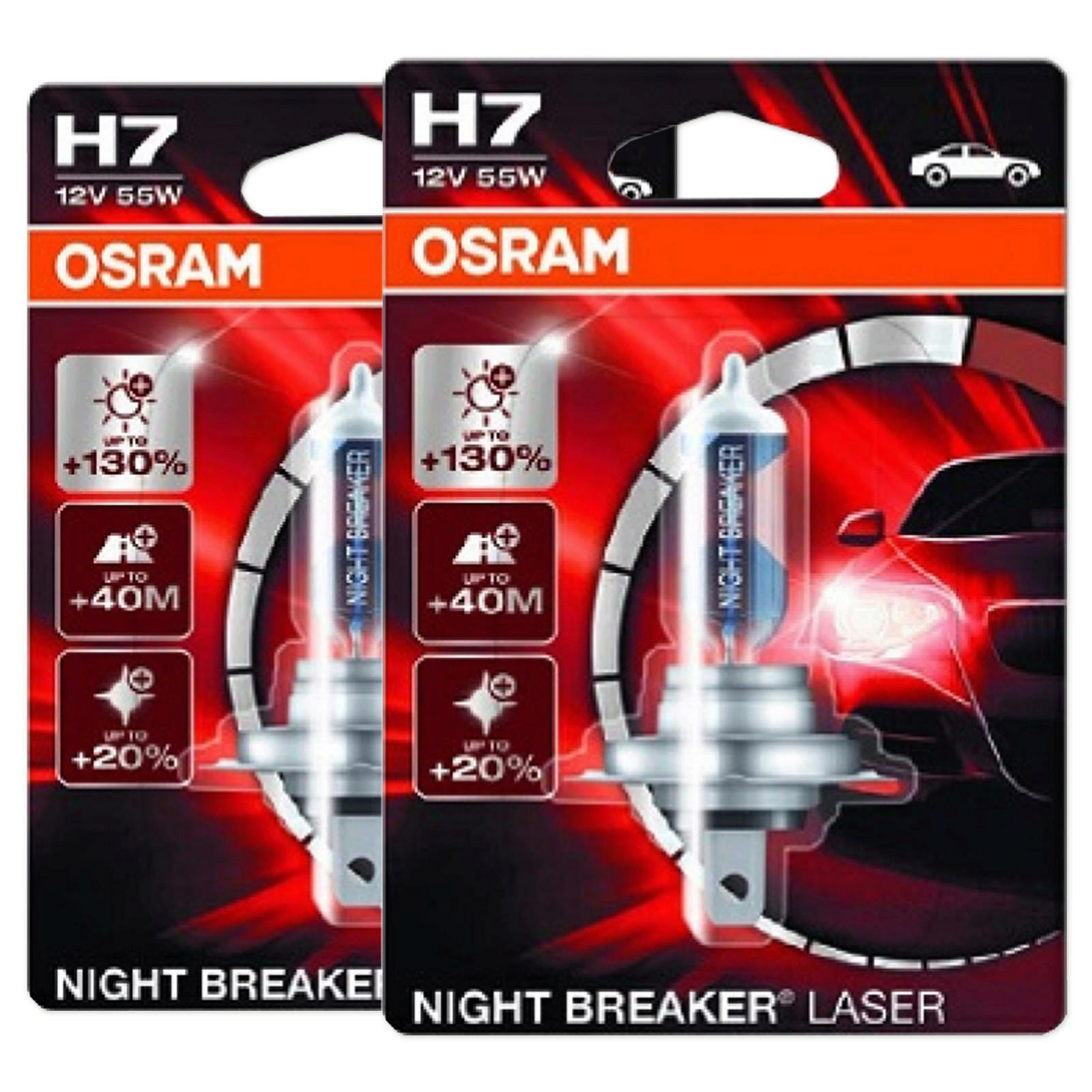 2x OSRAM NIGHT BREAKER LASER H7