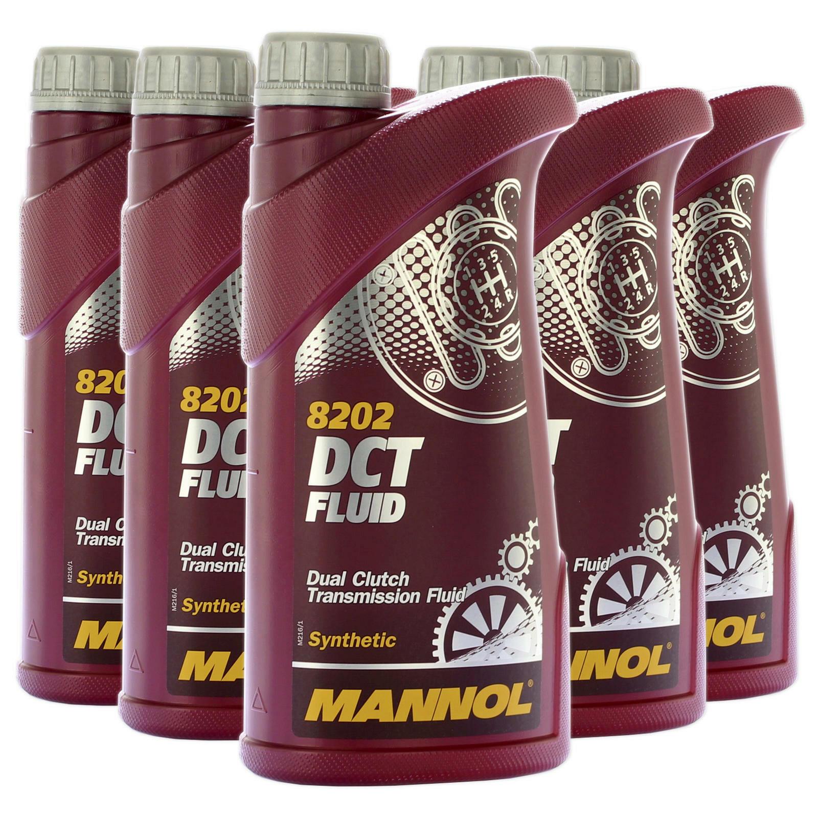 5 x 1l MANNOL DSG synthetisches Getriebeöl für VW/ Audi/ MB/ BMW/ Ford/ Volvo