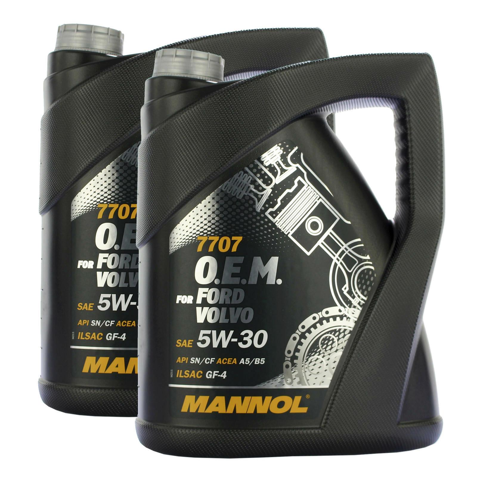 2x 5 Liter MANNOL Motoröl 5W-30 7707 O.E.M. FORD OPEL VOLVO API SN/CF