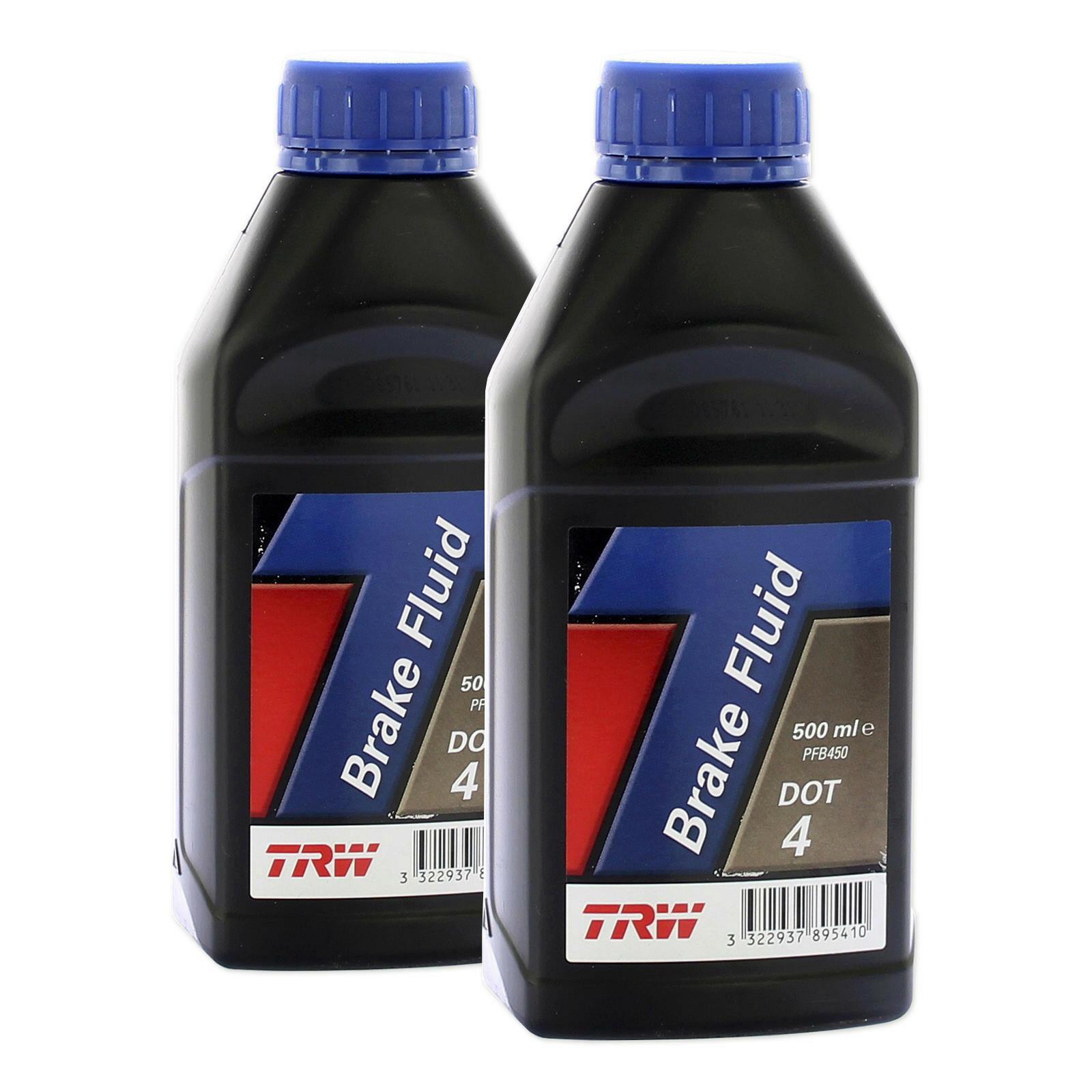 2x TRW Bremsflüssigkeit DOT 4 500ml