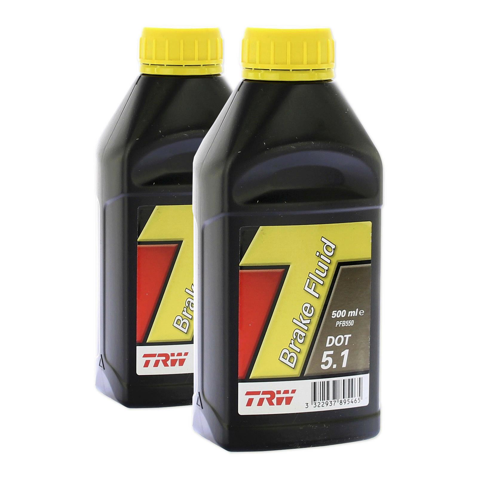 2x TRW Bremsflüssigkeit DOT 5.1 500ml