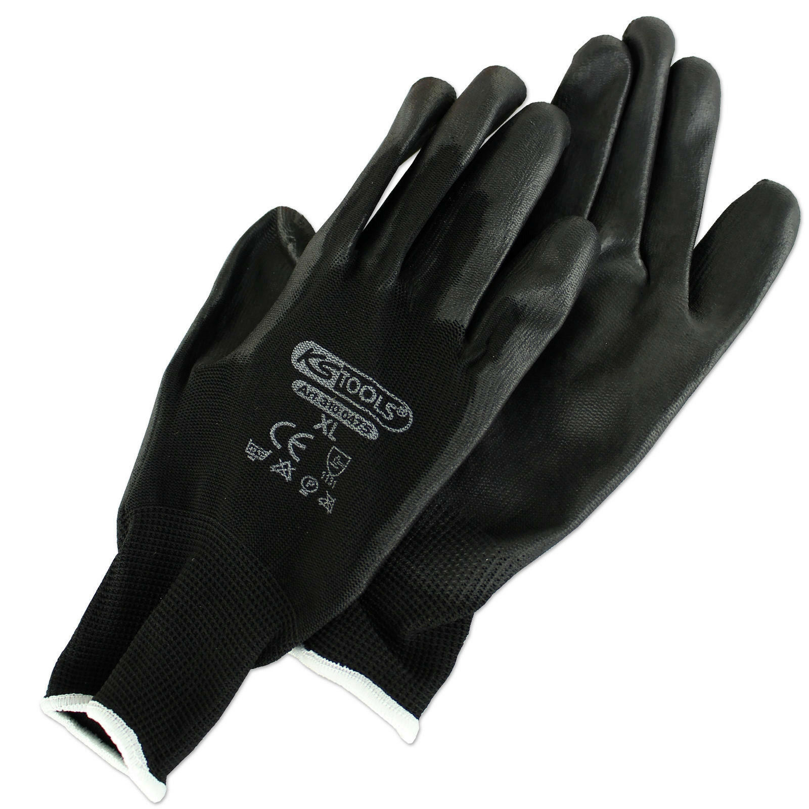 KS TOOLS Mikro-Feinstrick-, Arbeitshandschuhe schwarz Größe: XL, PU beschichtet