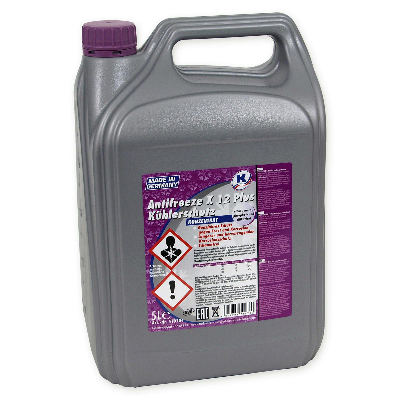 5 Liter Kuttenkeuler Kühlerfrostschutz rot