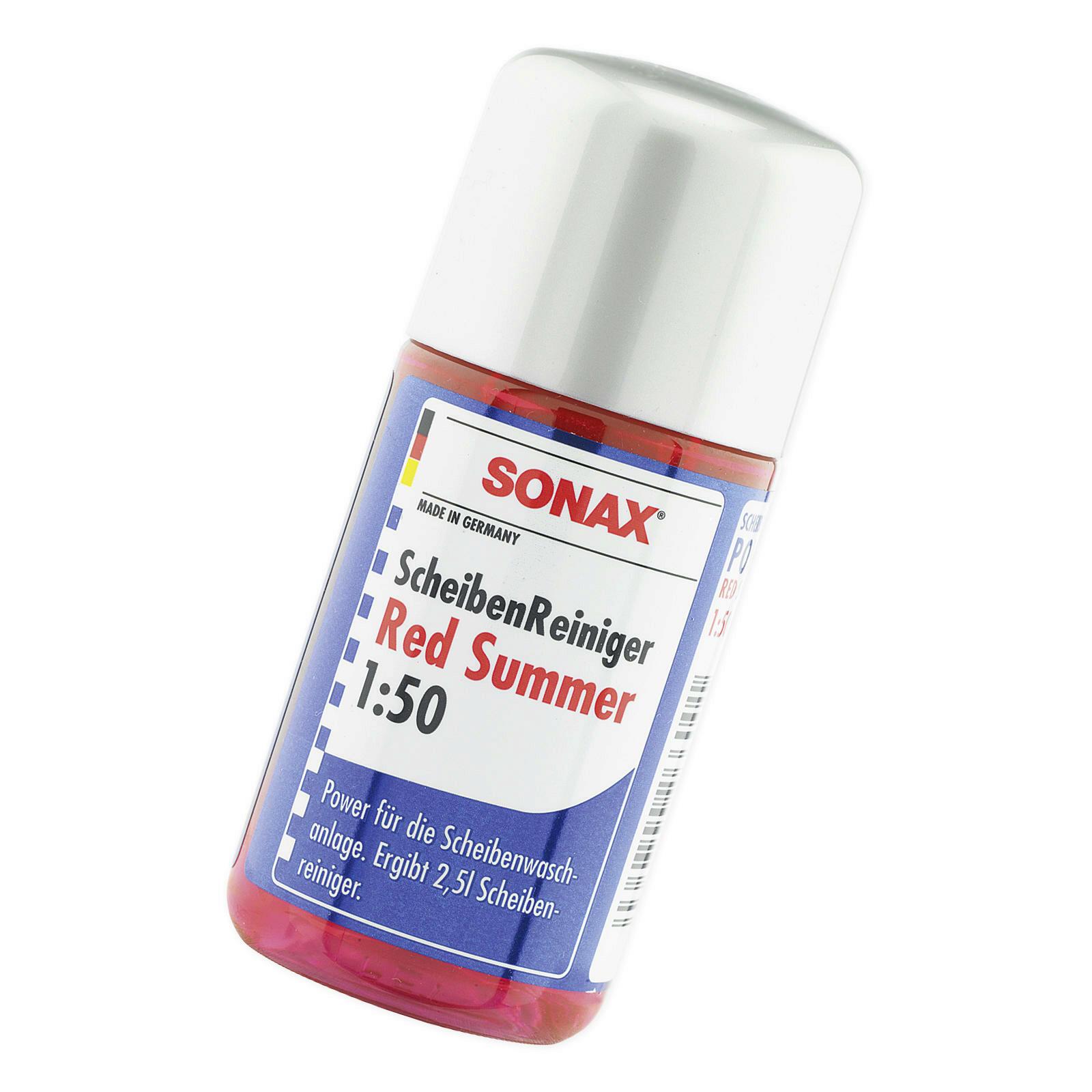 sonax scheibenreiniger konzentrat 1 50 red summer 50ml ebay. Black Bedroom Furniture Sets. Home Design Ideas