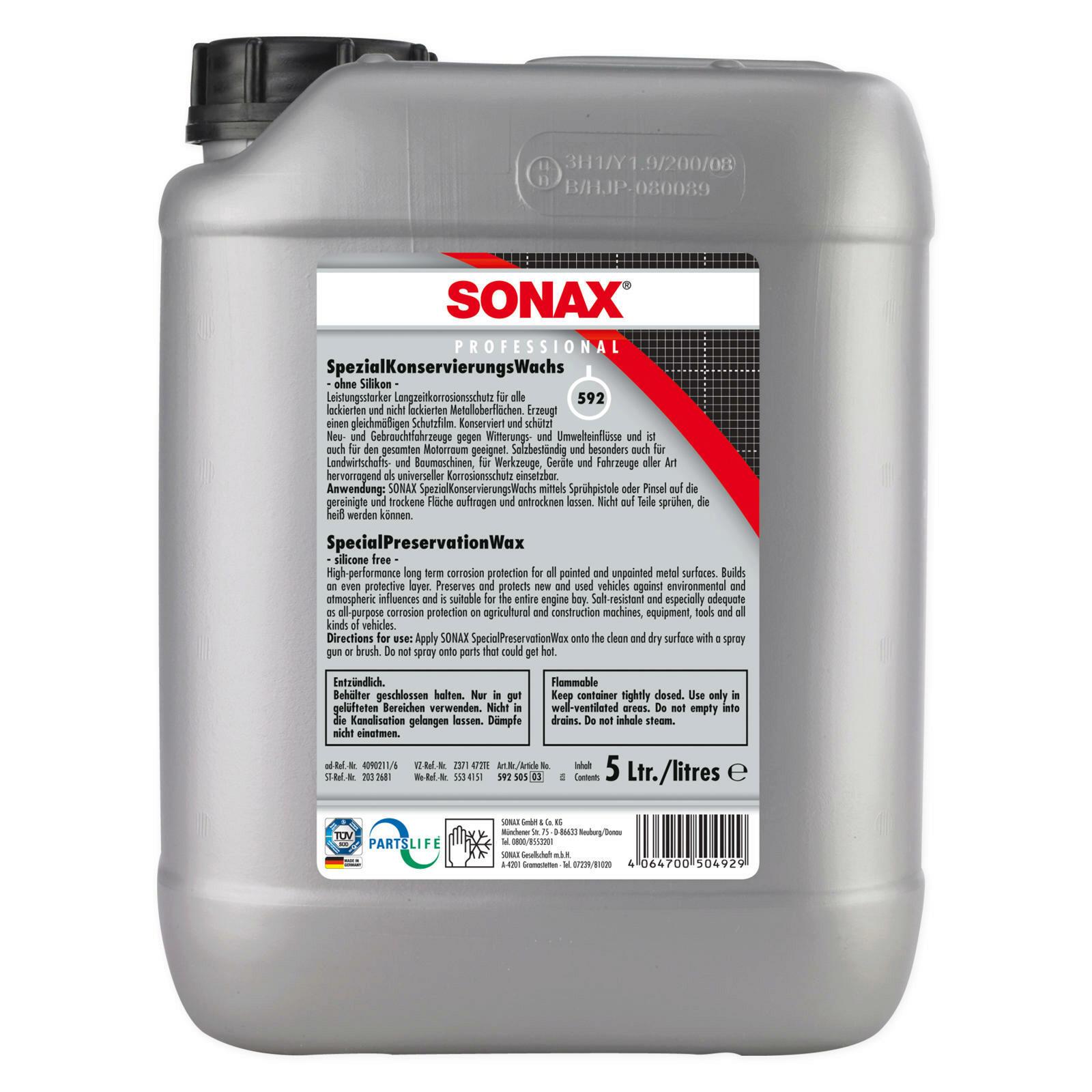 SONAX PROFESSIONAL SpezialKonservierungsWachs 5l
