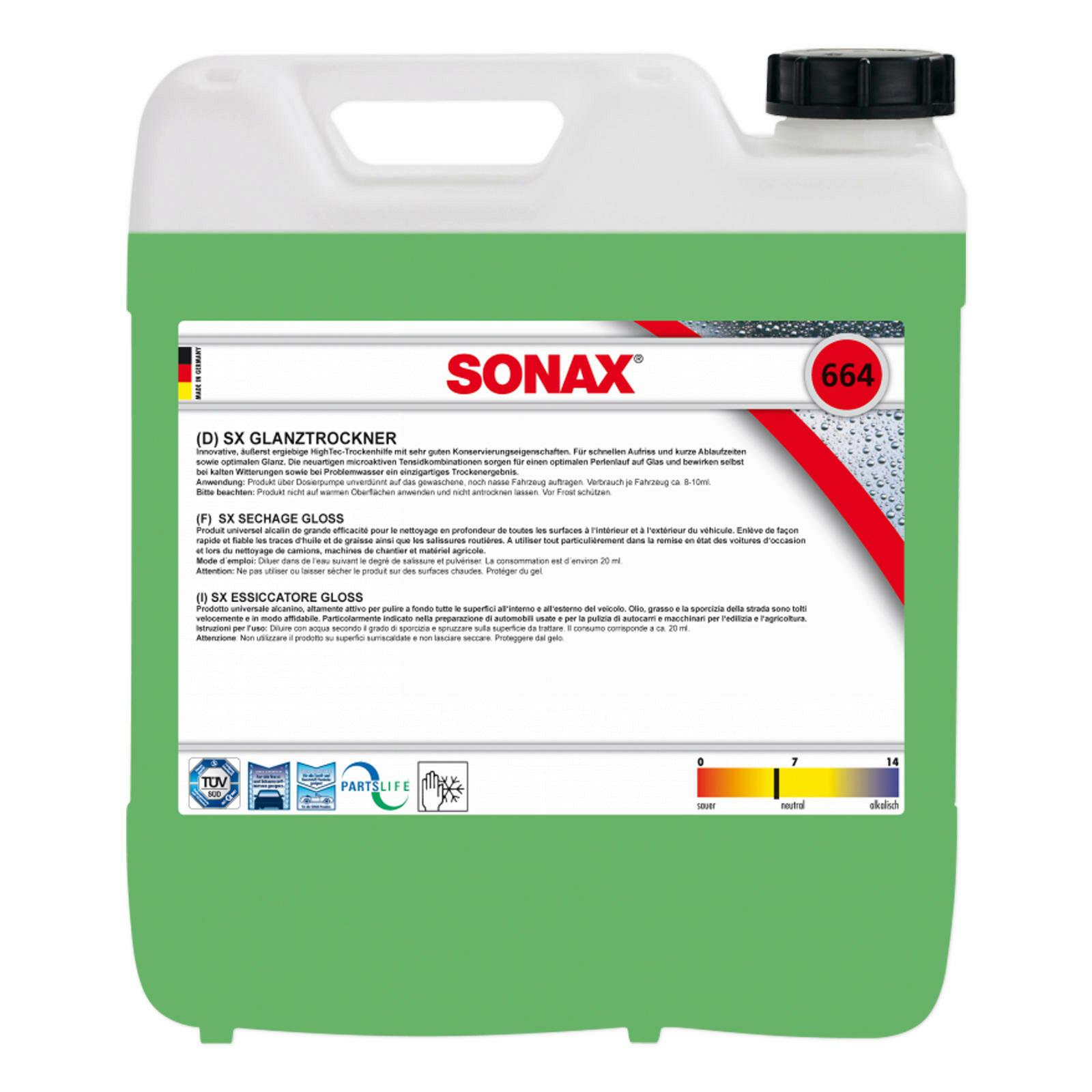 SONAX SX GlanzTrockner 10L
