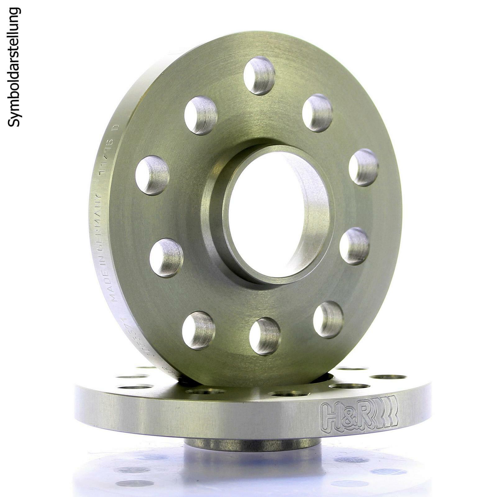 H&R DR Spurplatten Spurverbreiterung Distanzscheiben/Ringe 5x120 30mm // 2x15mm