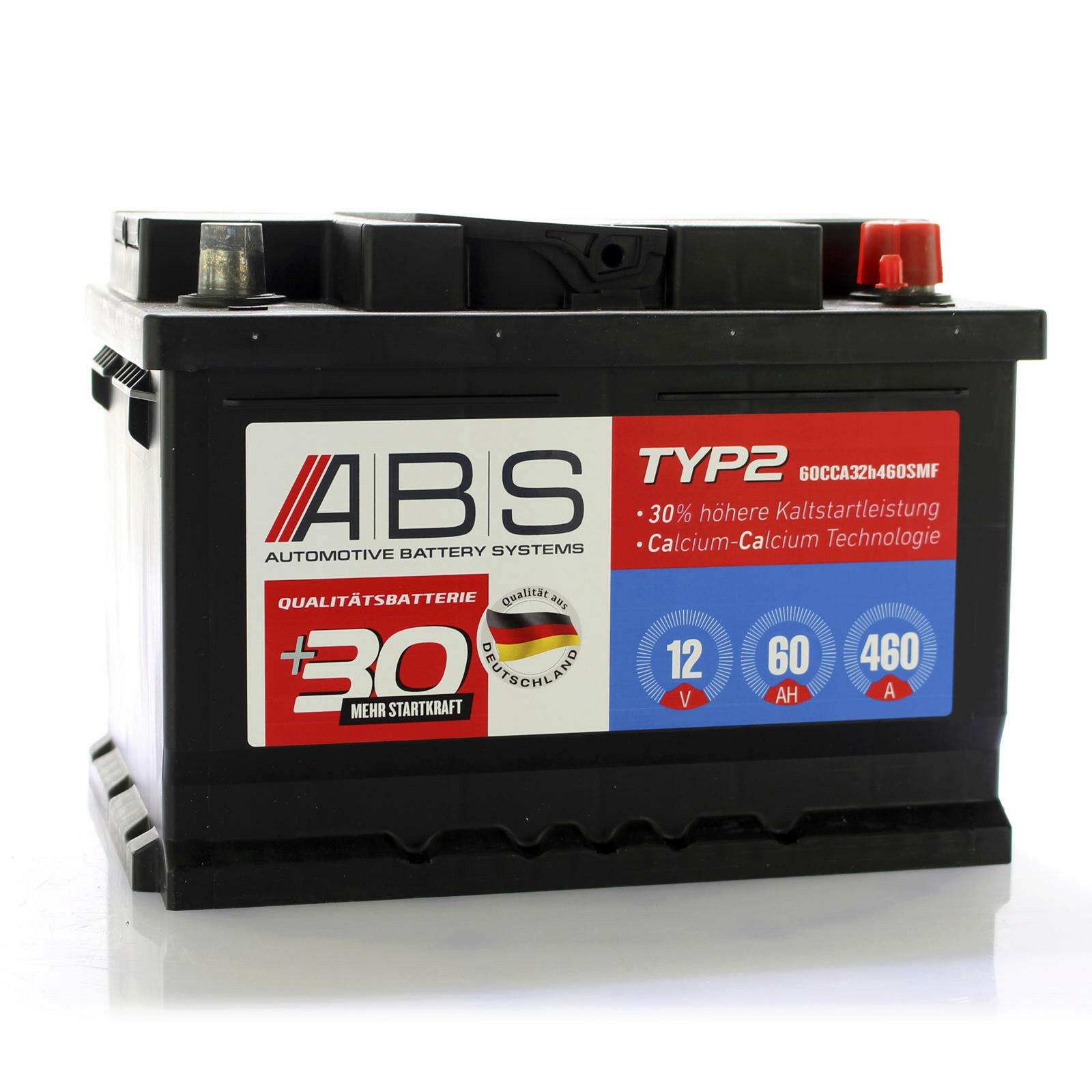 ABS Starterbatterie wartungsfrei 12 Volt 60 AH
