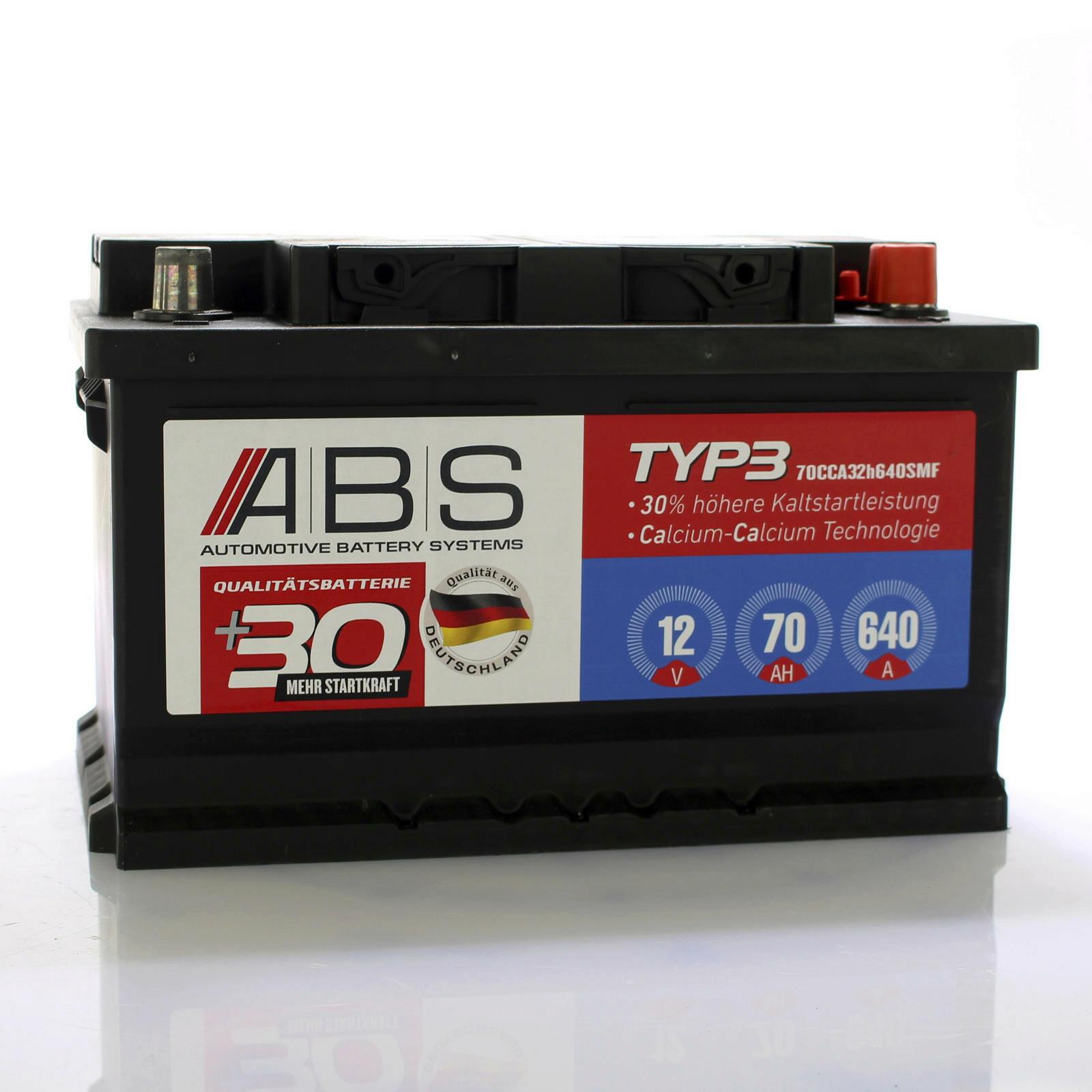 ABS Starterbatterie wartungsfrei 12V 70 AH