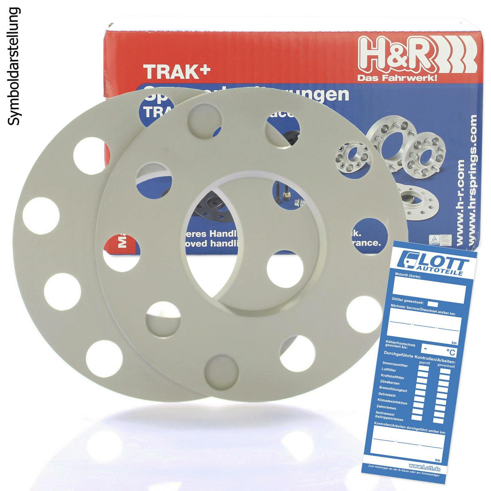H&R DR Spurplatten Spurverbreiterung Distanzscheibe 5x100 10mm // 2x5mm