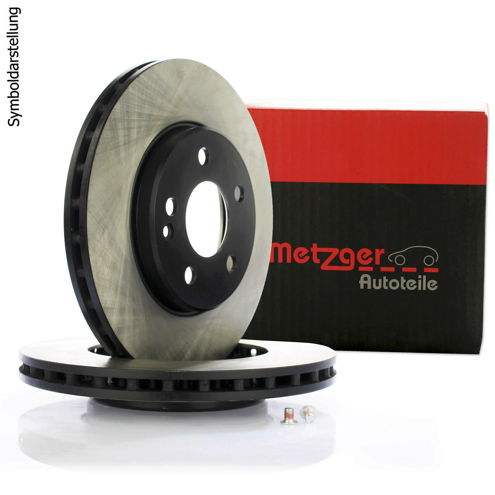 2x METZGER Brake Disc COATED