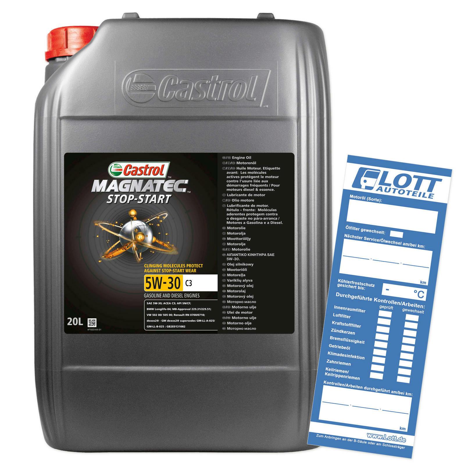 CASTROL Motoröl MAGNATEC STOP-START 5W-30 C3
