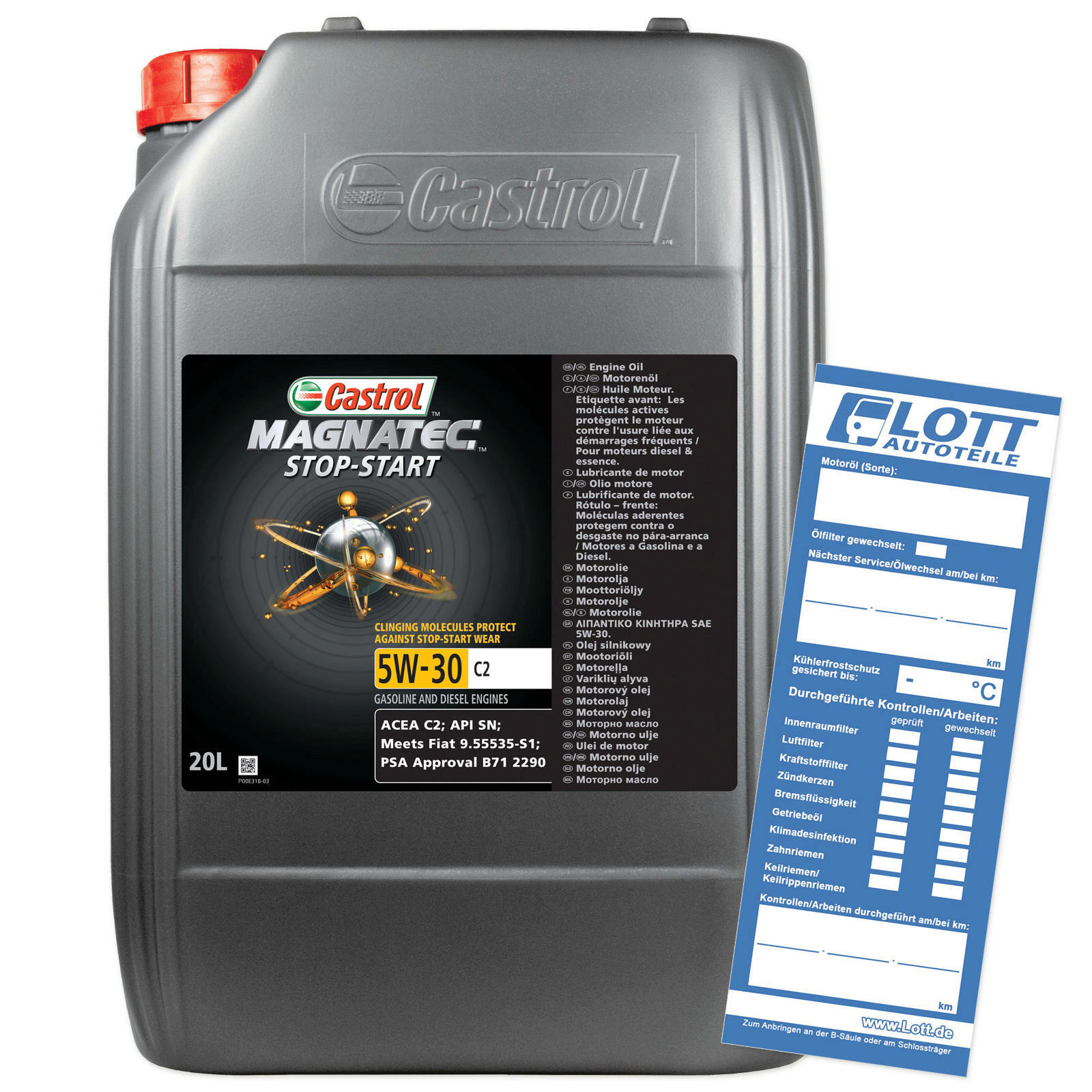 CASTROL Motoröl MAGNATEC STOP-START 5W-30 C2