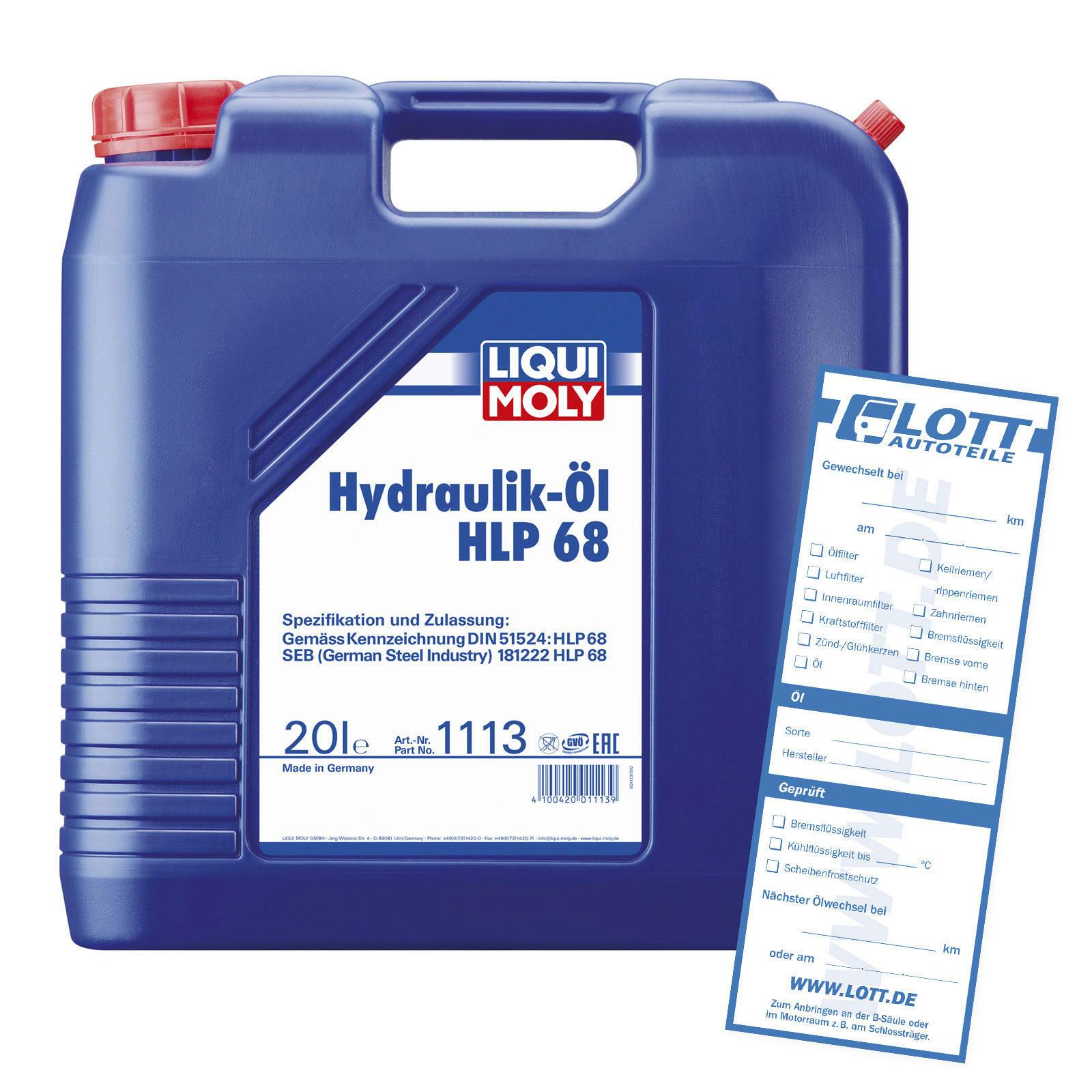 Liqui Moly Hydrauliköl HLP 68 20L