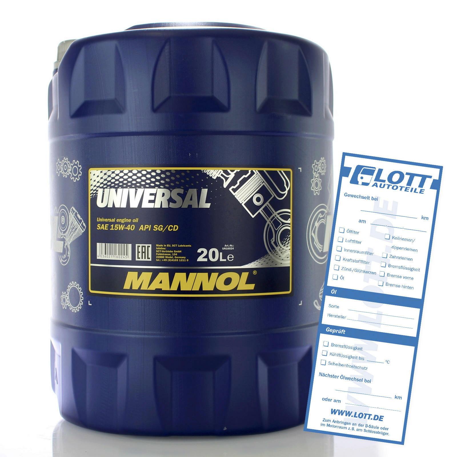 Mannol Universal 15W-40 20L
