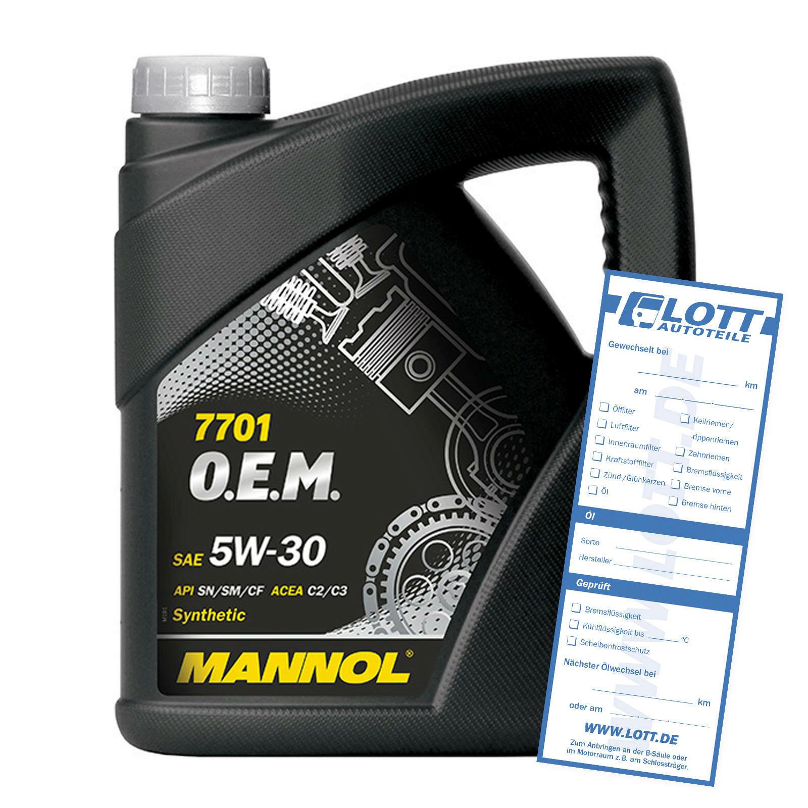 MANNOL 7701 O.E.M. 5W-30 4 Liter dexos2