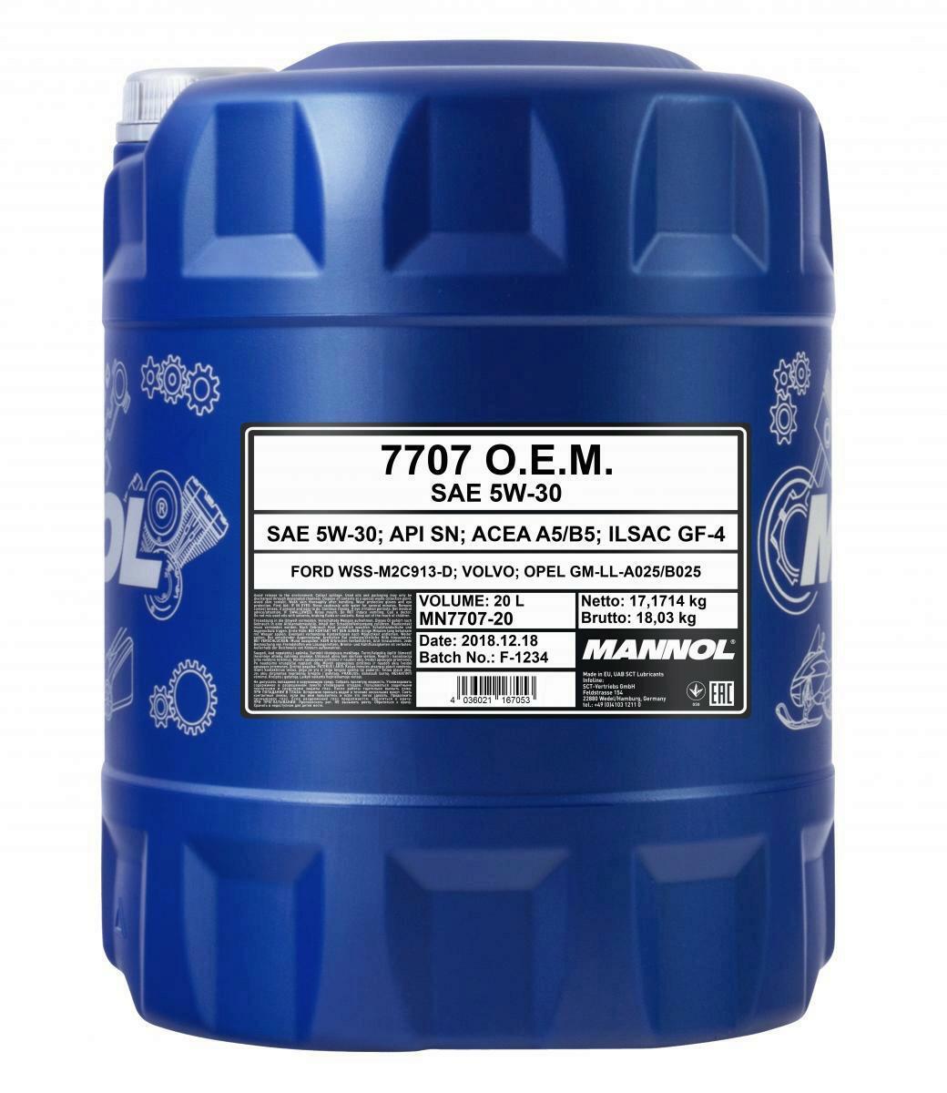 MANNOL 7707 O.E.M. 5W-30 20 Liter