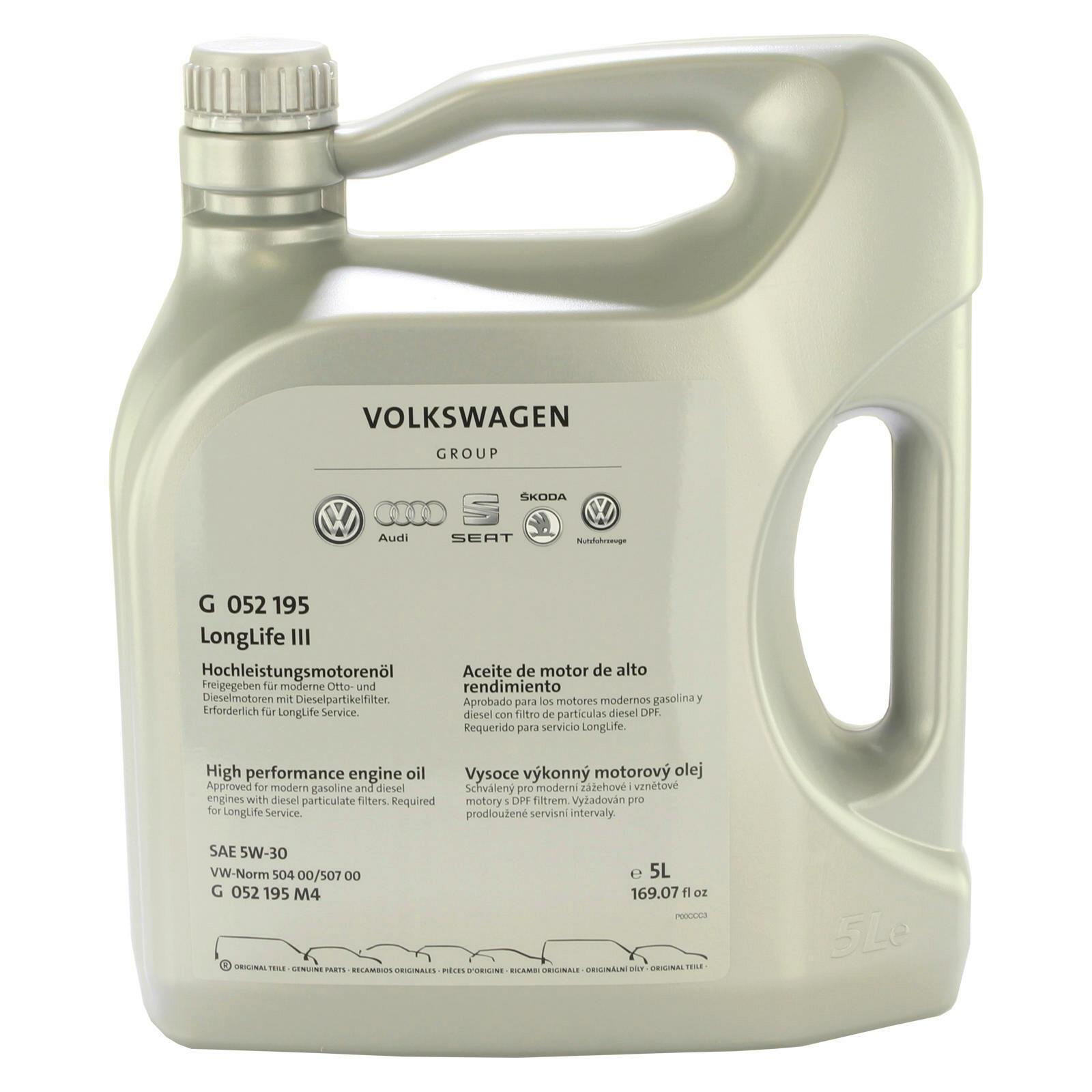 5 Liter Original VAG Motoröl 5W-30